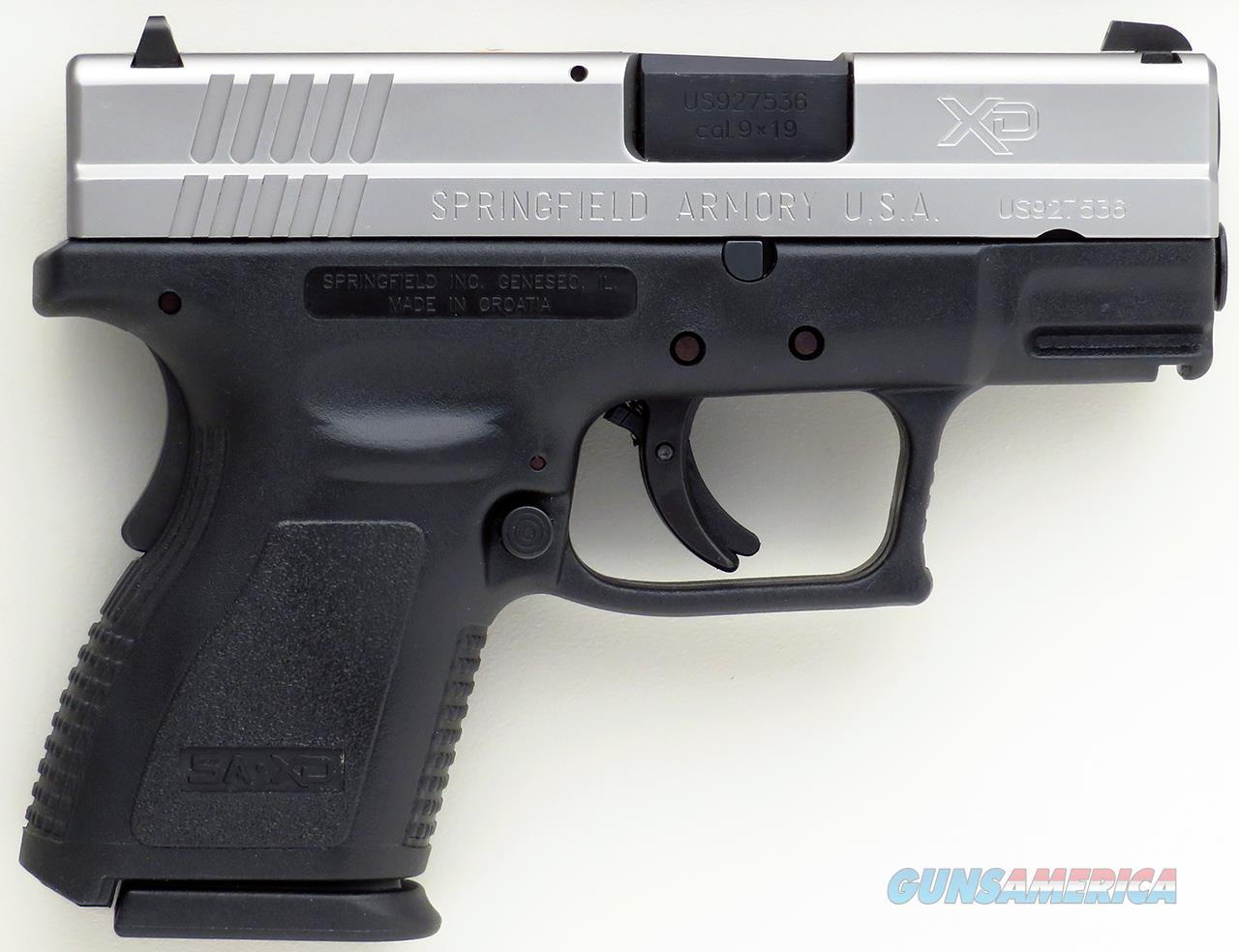 Springfield XD-9 Sub-Compact 9mm, stainless slide, 3-inch, two mags, accessories, NIB  Guns > Pistols > Springfield Armory Pistols > XD (eXtreme Duty)