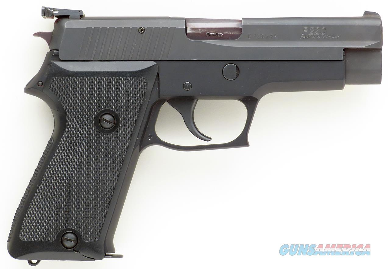 Sig Sauer P220 9mm, West Germany, two mags, adjustable sight, box  Guns > Pistols > Sig - Sauer/Sigarms Pistols > P220