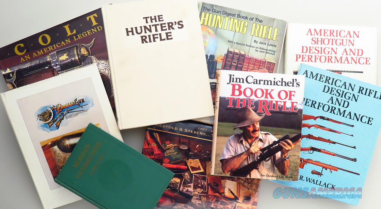 Firearm reference books, lot of 9, Parker, Colt, Carmichel, Askins  Non-Guns > Books & Magazines