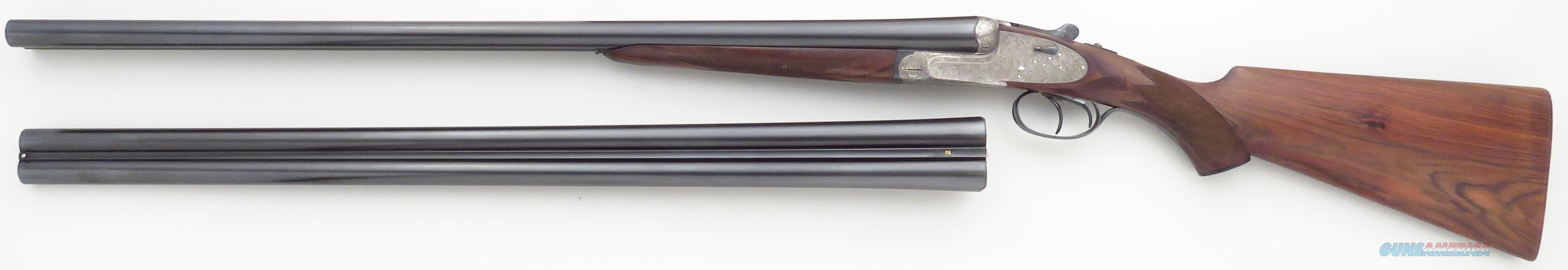 Aya Model 53 12 gauge SxS 2-barrel set, engraved sidelock, ejectors, 1961, cased, 98%  Guns > Shotguns > Double Shotguns (Misc.)  > Spanish