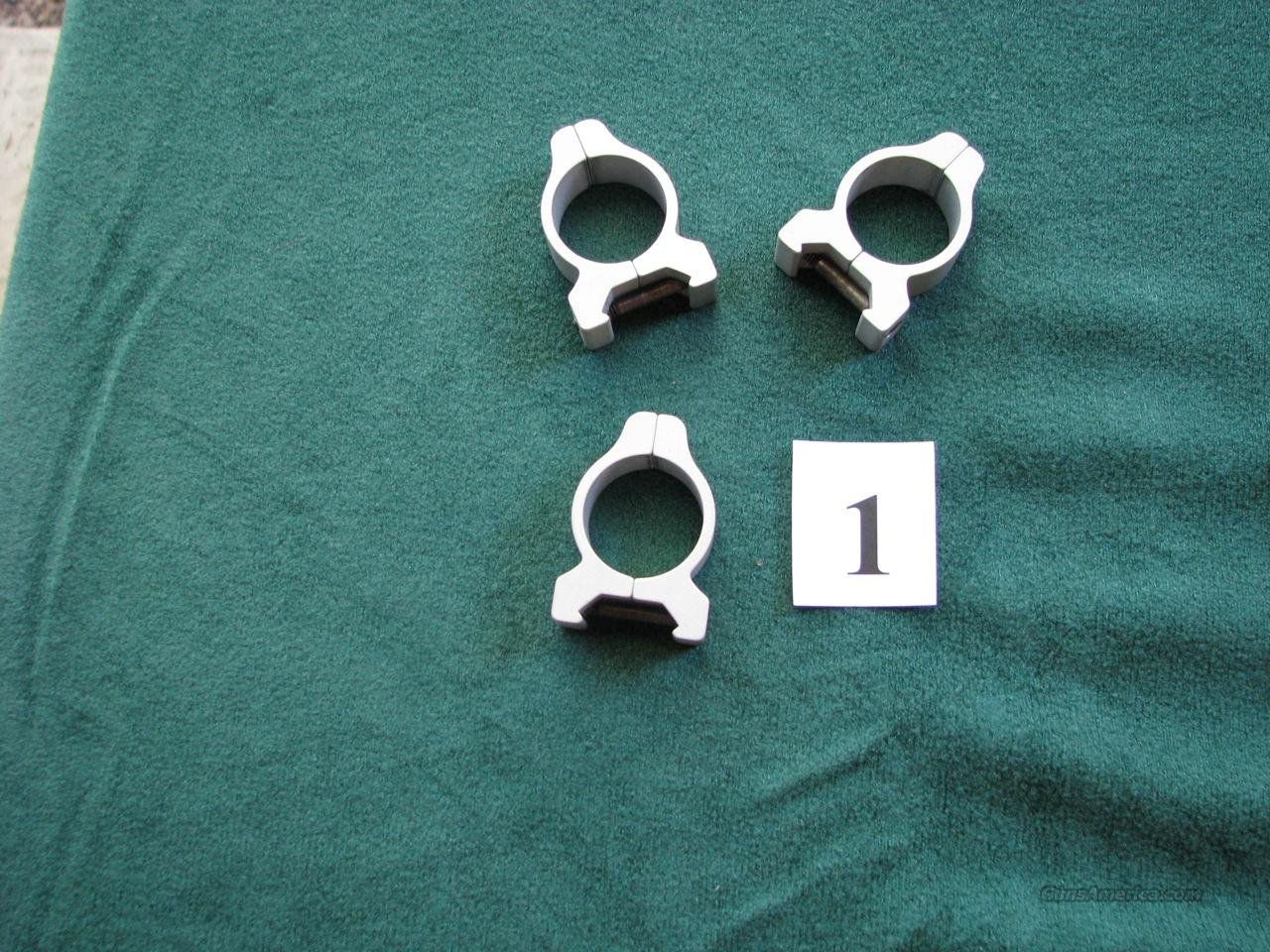 Three 1-inch low aluminum rings for Weaver mount  Non-Guns > Scopes/Mounts/Rings & Optics > Mounts > Traditional Weaver Style > Flat