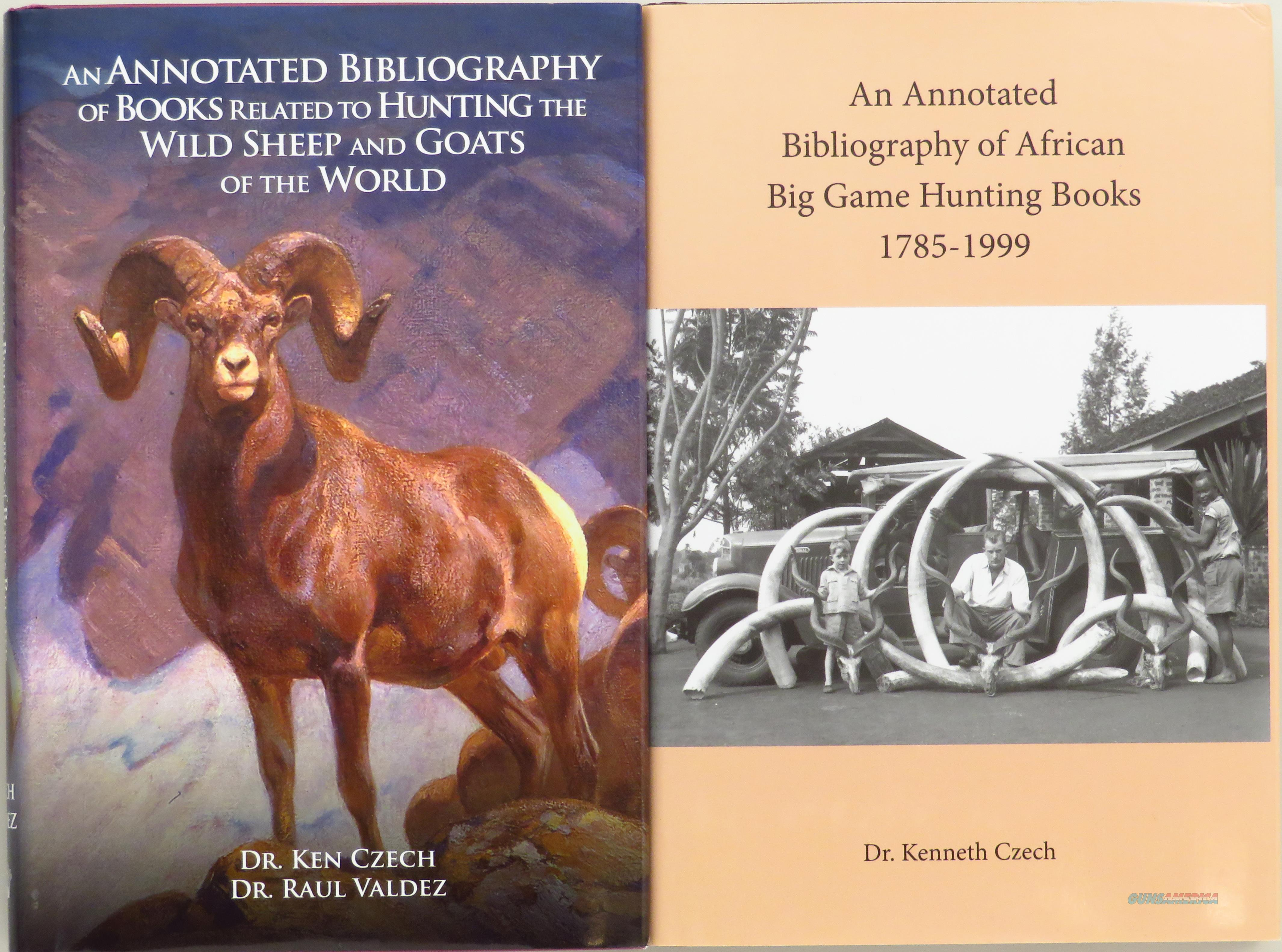 Paired bibliography of hunting books by Czech, Africa and sheep/goats  Non-Guns > Books & Magazines