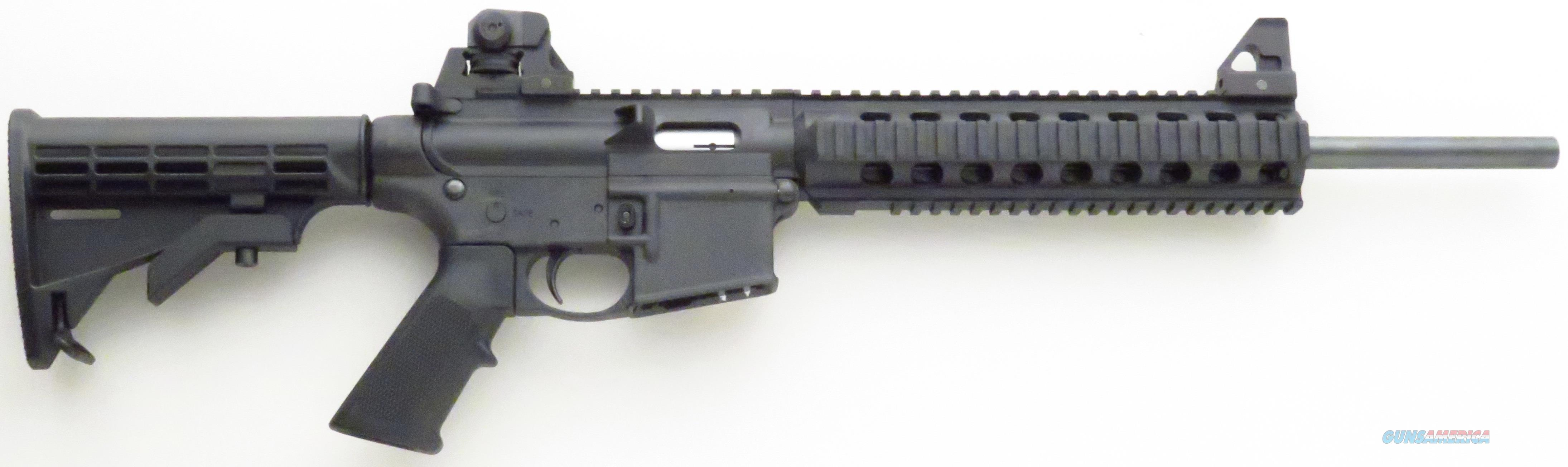 Smith & Wesson M&P-15 .22 LR, 16-inch, sights, quad rail, six-position stock  Guns > Rifles > Smith & Wesson Rifles > M&P