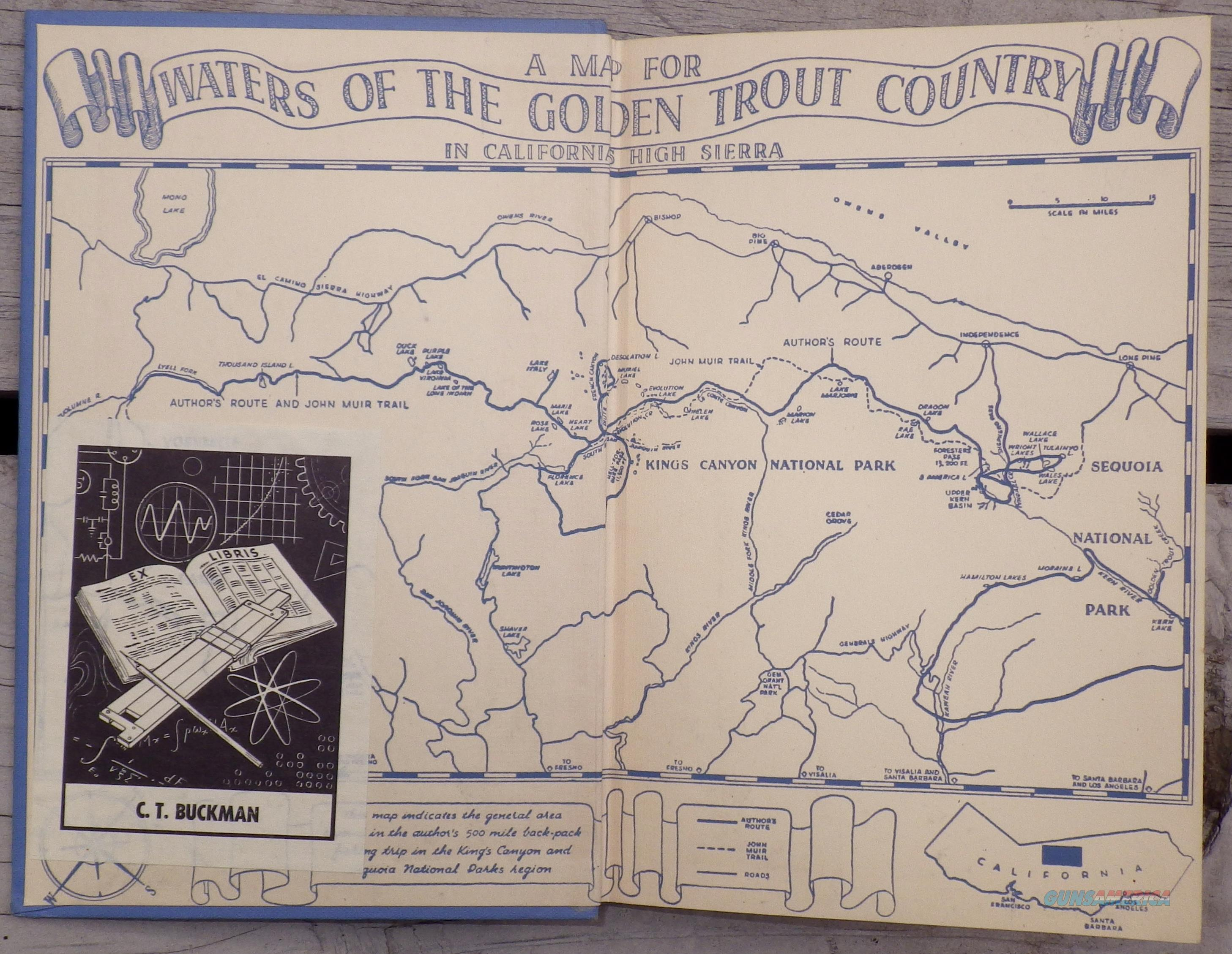Waters of the Golden Trout Country, Charles McDermand  Non-Guns > Books & Magazines
