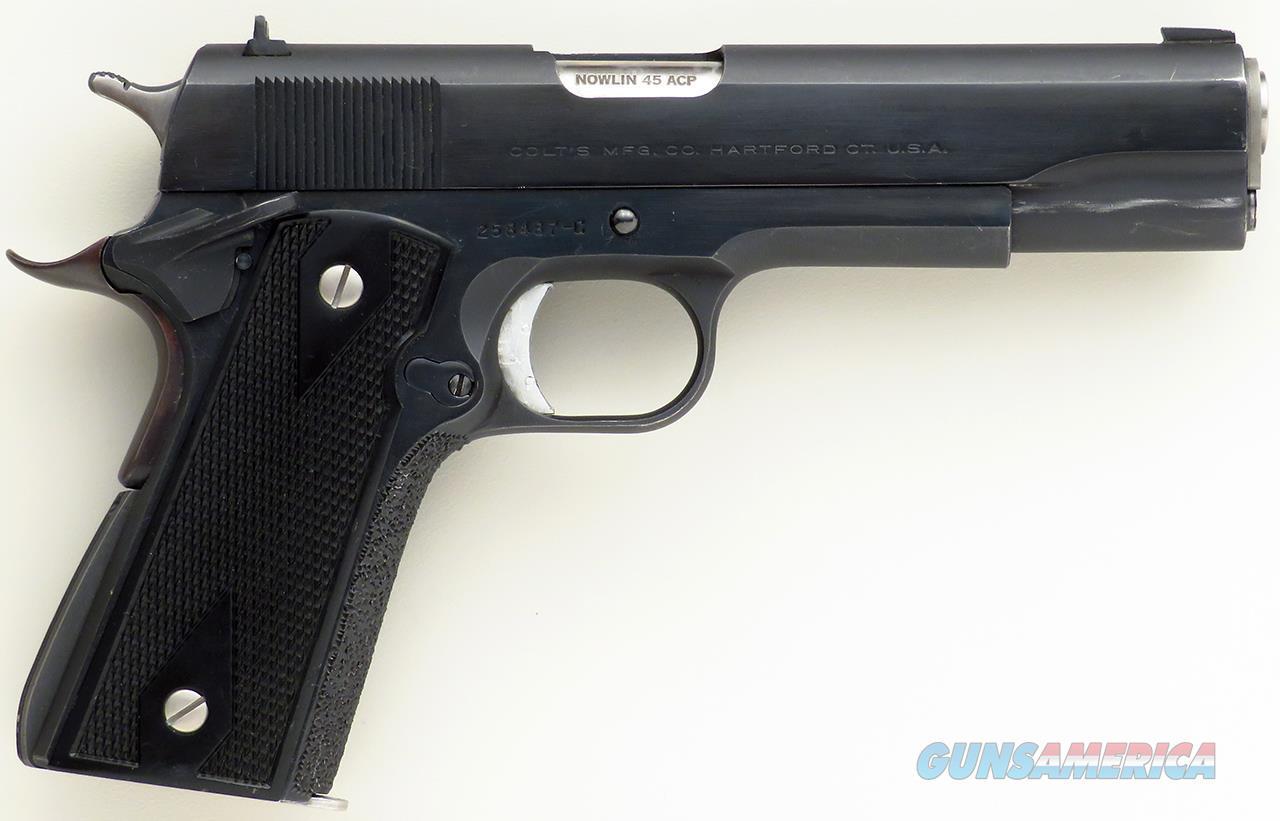 Nowlin custom Colt 1911 .45 ACP, ambi, stippled, superb tune, short trigger, thin grips  Guns > Pistols > Colt Automatic Pistols (1911 & Var)