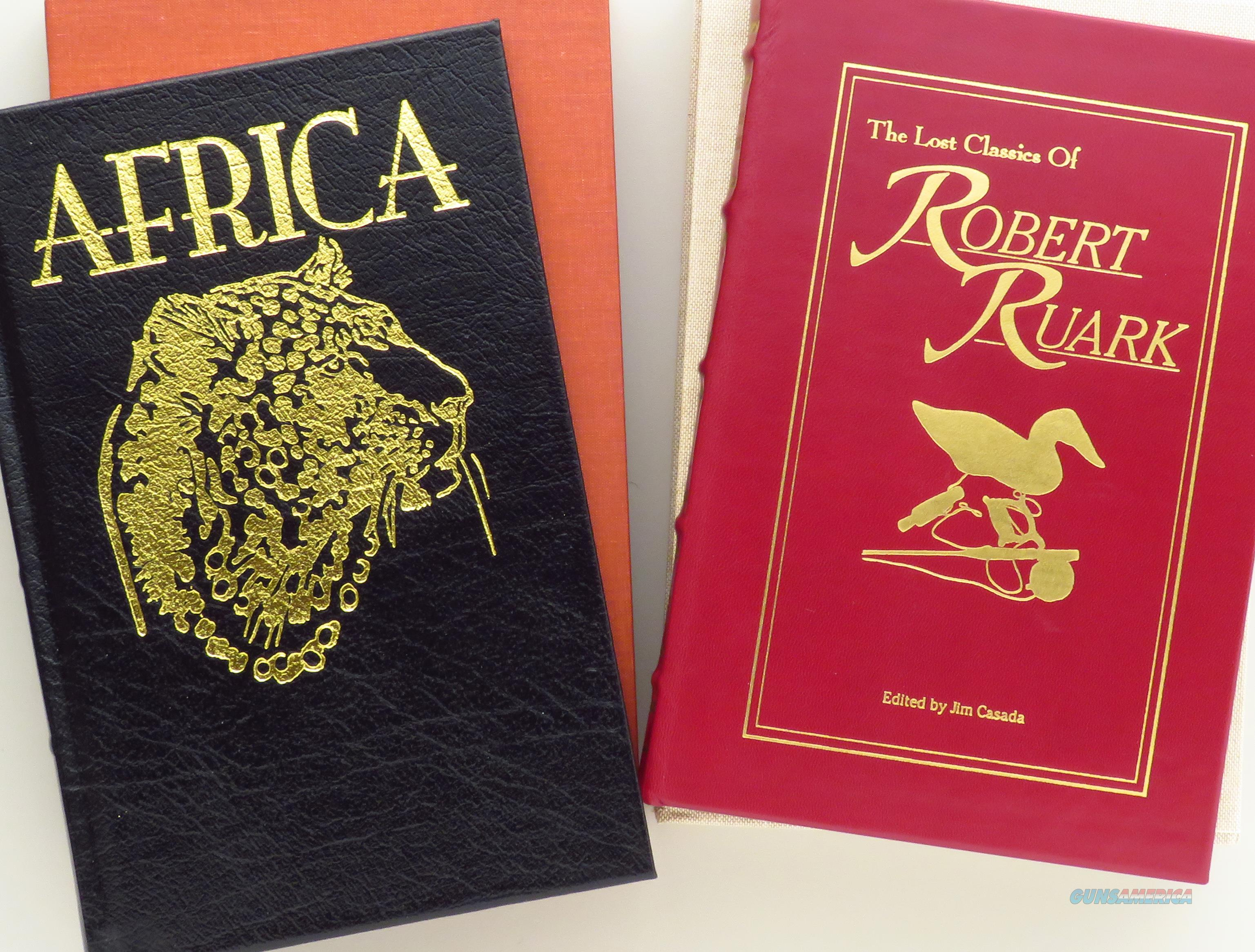 Paired limited editions from Sporting Classics, Africa and The Lost Classics of Robert Ruark, leather and slips  Non-Guns > Books & Magazines