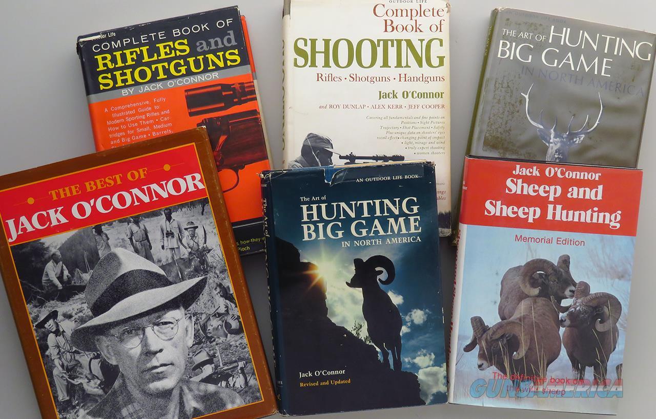 Jack O'Connor books, lot of 6, Sheep & Sheep Hunting, Best, Art, Shooting  Non-Guns > Books & Magazines