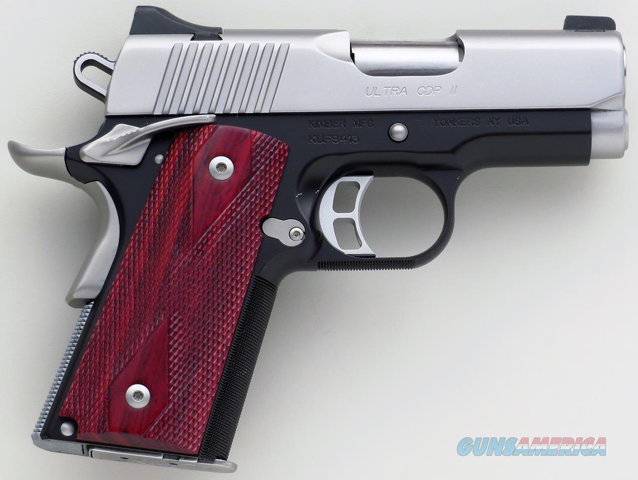 Kimber Ultra CDP II 9mm, 3-inch bull barrel, stainless slide, night sights, front strap checkering  Guns > Pistols > Kimber of America Pistols > 1911