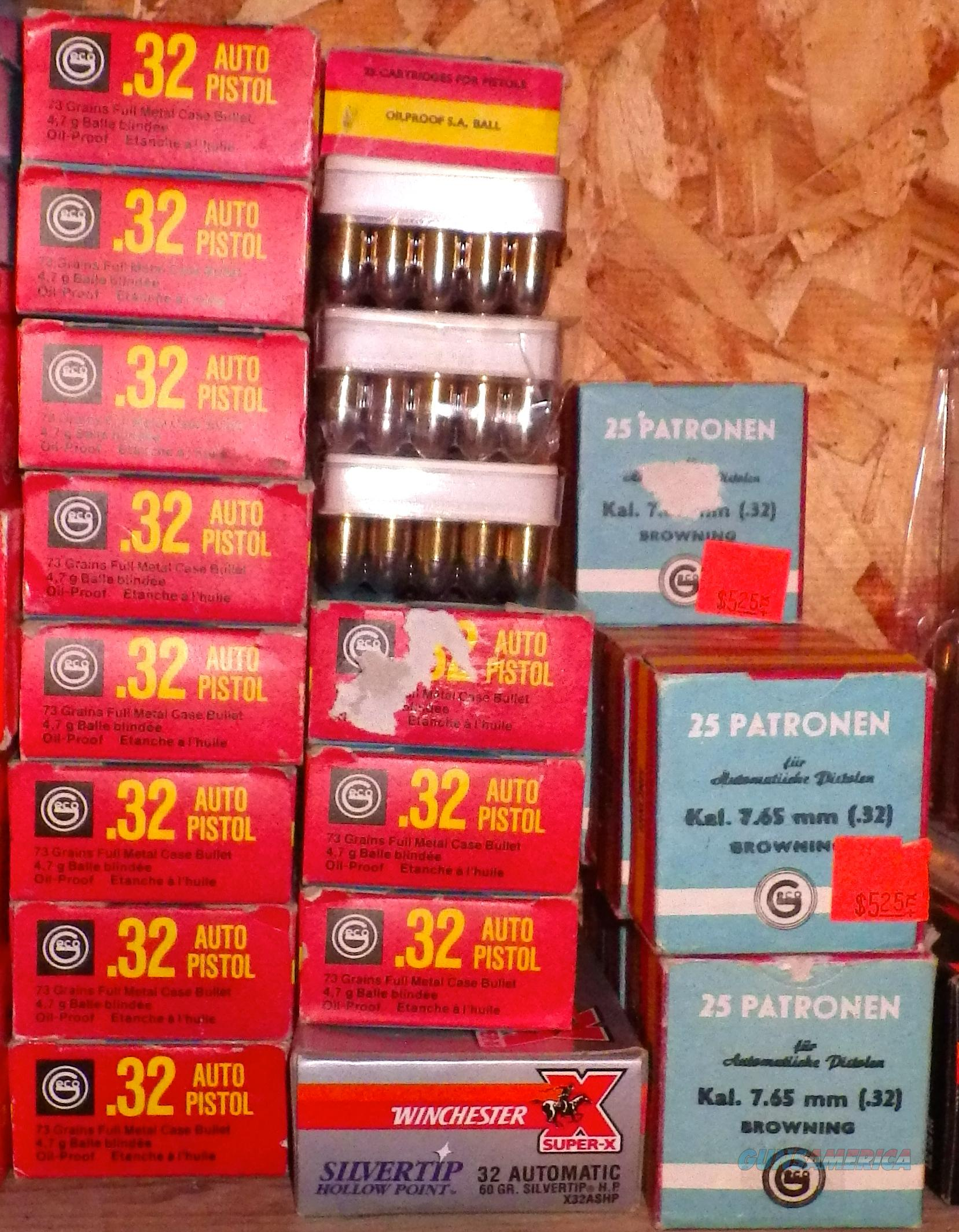 .32 Auto ammunition - 1,150 rounds  Non-Guns > Ammunition