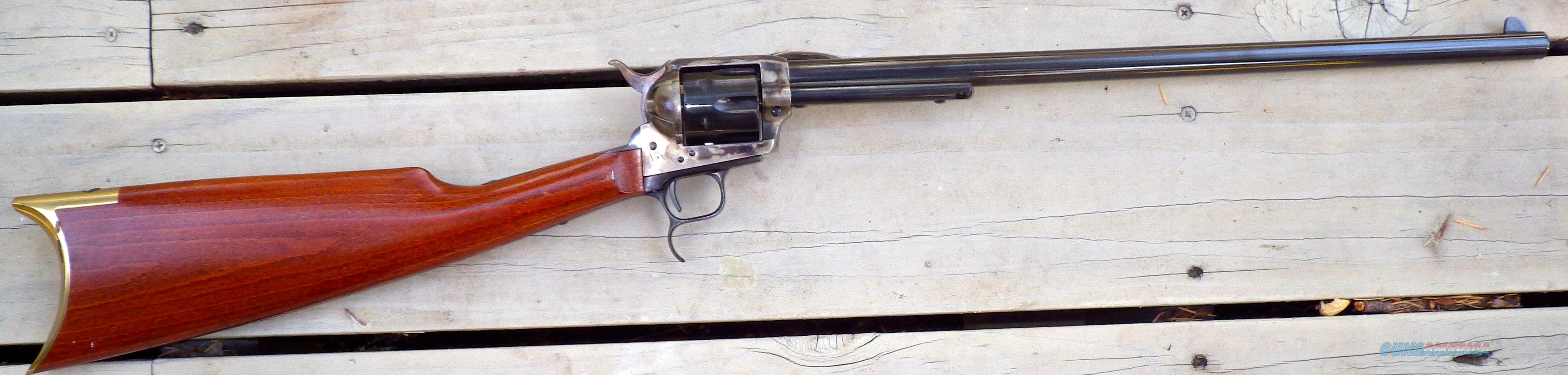 Uberti Revolving Carbine .45 Colt, 18-inch, color case, shoulder stock, new  Guns > Pistols > Uberti Pistols > Ctg.