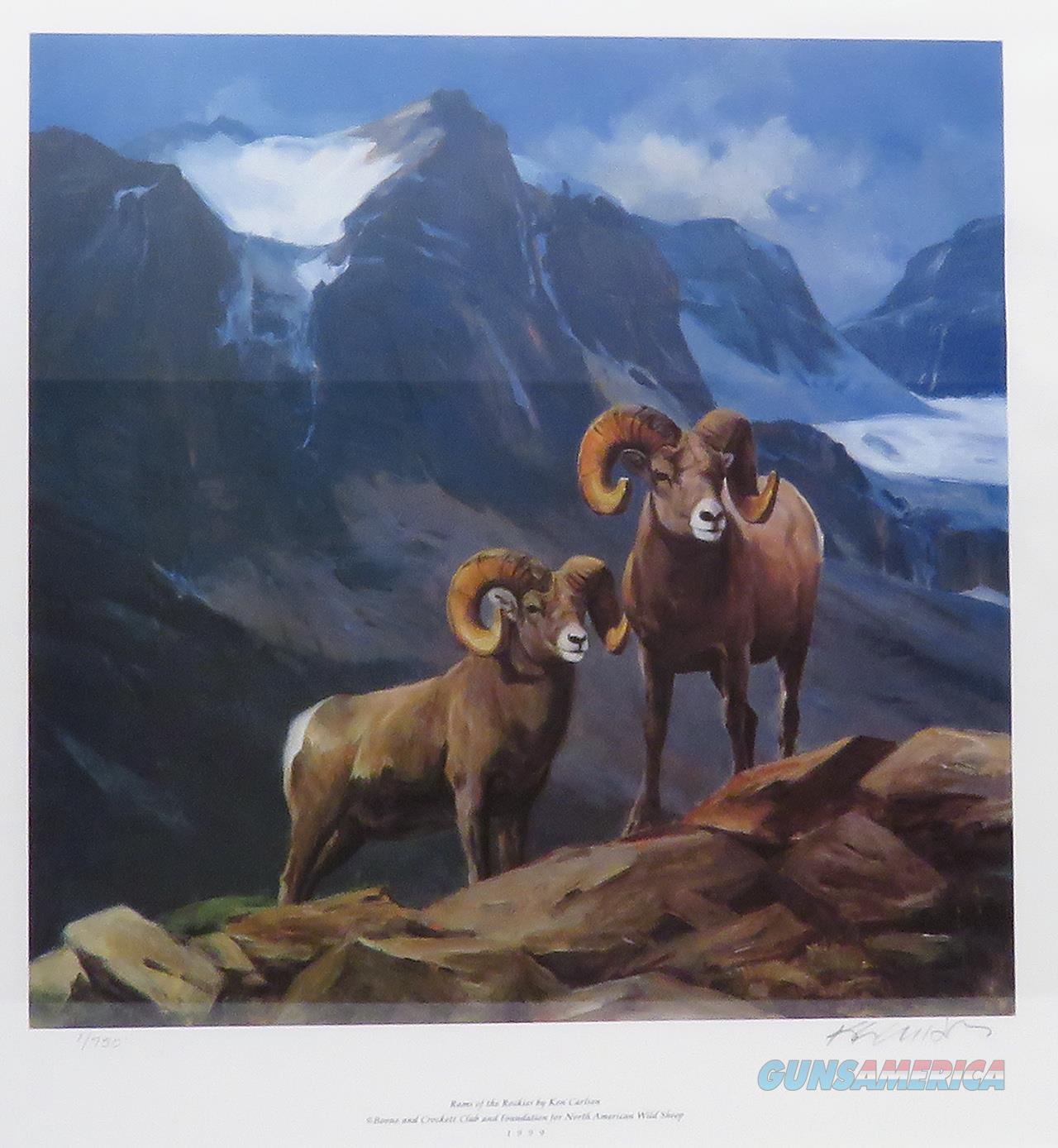 Ken Carlson print number one (1/750) Rams of the Rockies, 1999  Non-Guns > Artwork