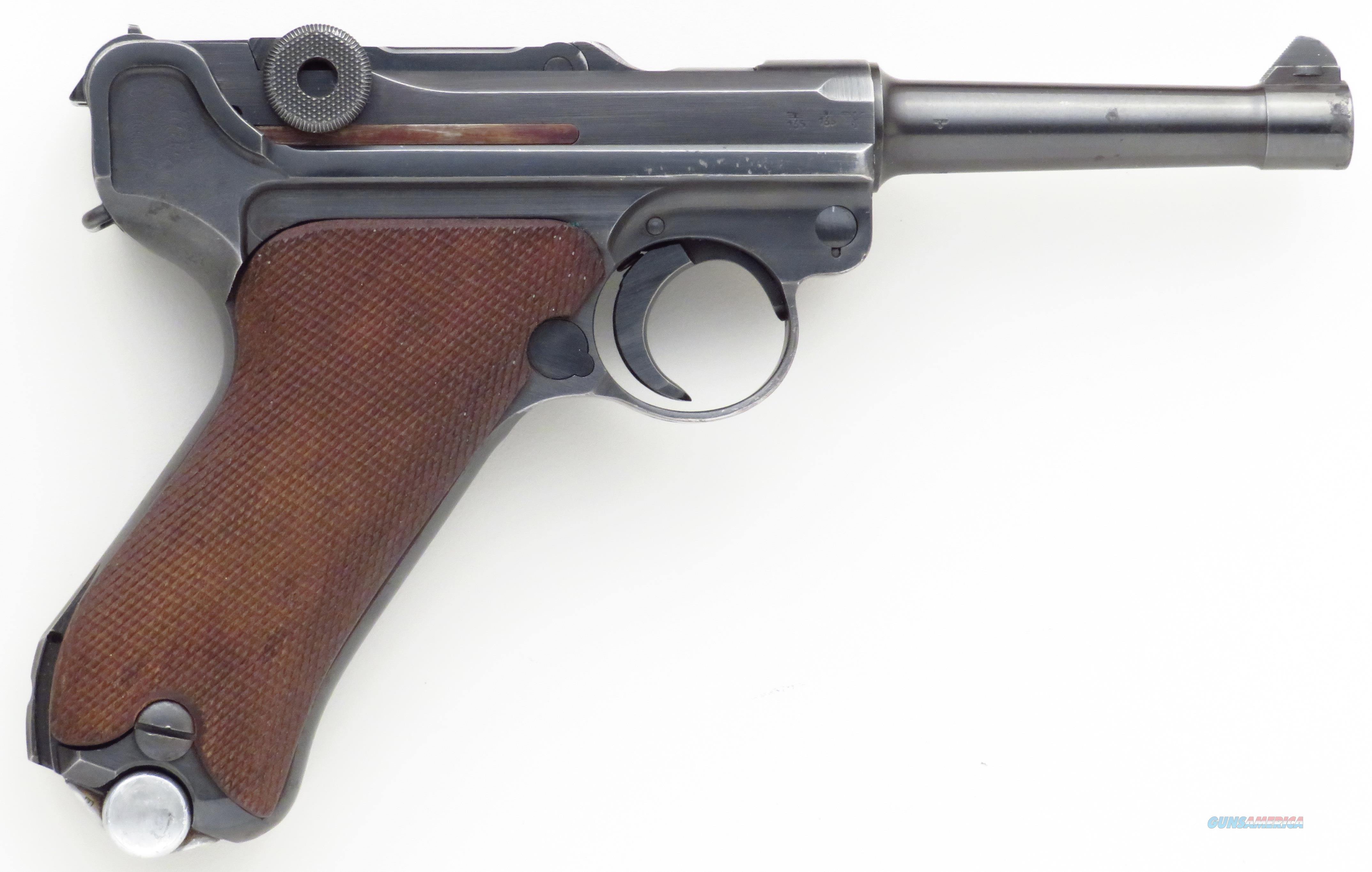 Luger 9mm, 1941, byf (Mauser), serial 507, 4-inch, 85% condition  Guns > Pistols > Luger Pistols