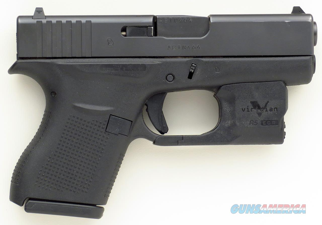 Glock 43 9mm, Viridian Reactor 5 green laser and holster  Guns > Pistols > Glock Pistols > 43