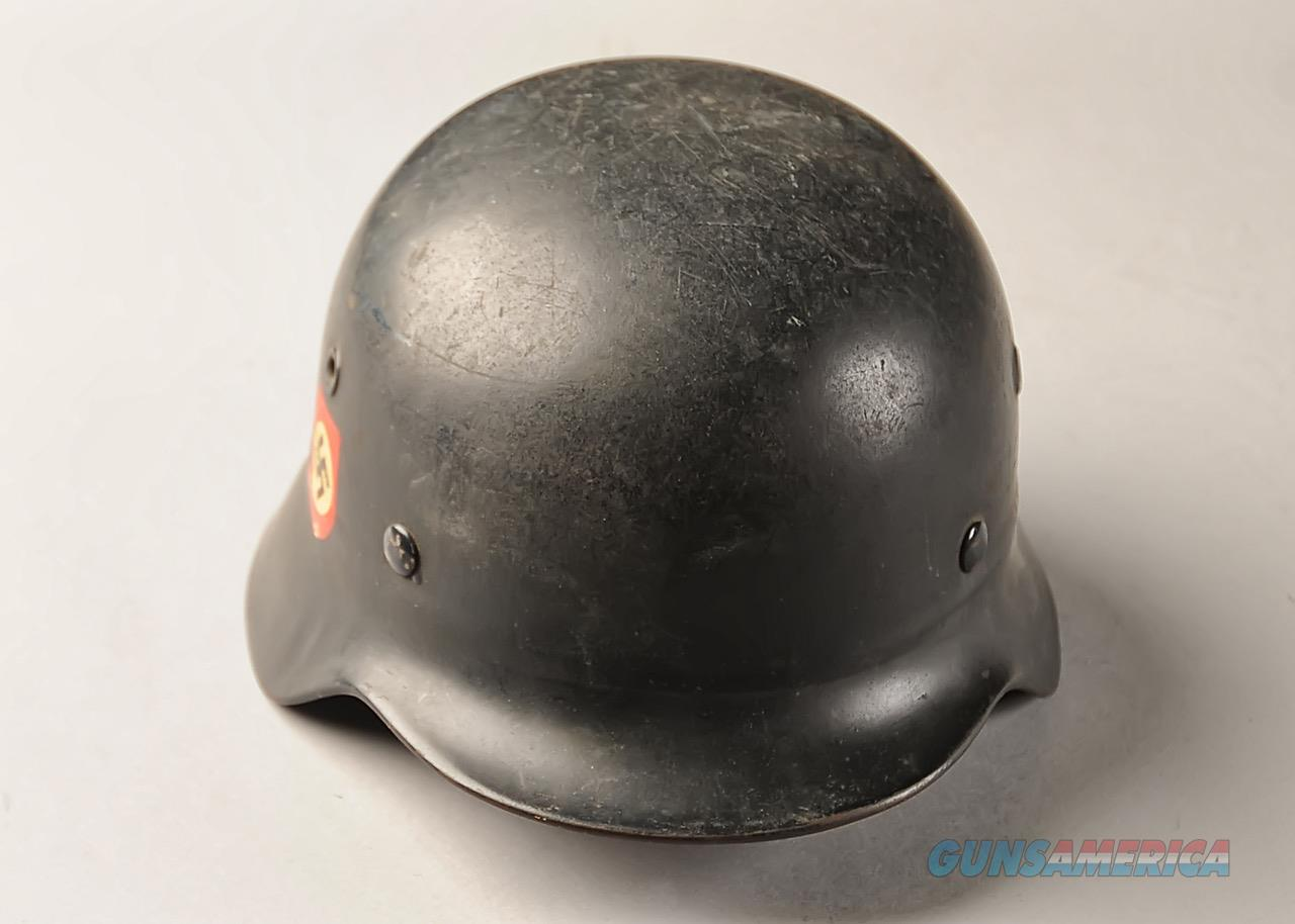 German WWII M40 Combat Police helmet, double decals, original liner  Non-Guns > Military > Clothing/Camo