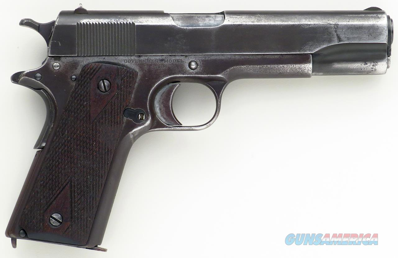 Colt 1911 serial C25104 .45 ACP, 1916, French military purchase, hybrid  Guns > Pistols > Colt Automatic Pistols (1911 & Var)