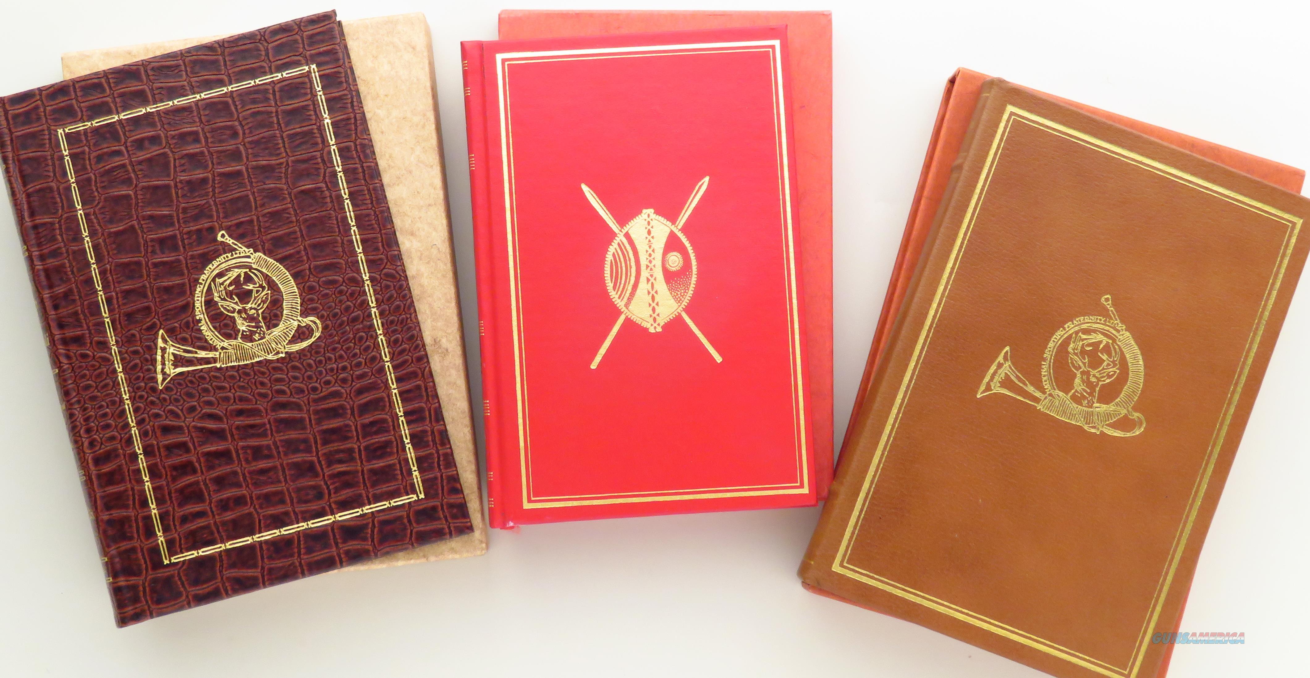 Three Amwell Press big game hunting titles, signed, limited, Branham, Randall, Merritt  Non-Guns > Books & Magazines