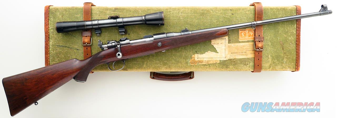 Holland & Holland .240 Apex takedown, aperture, scope, quick release mount, aperture, case   Guns > Rifles > Holland & Holland Rifles