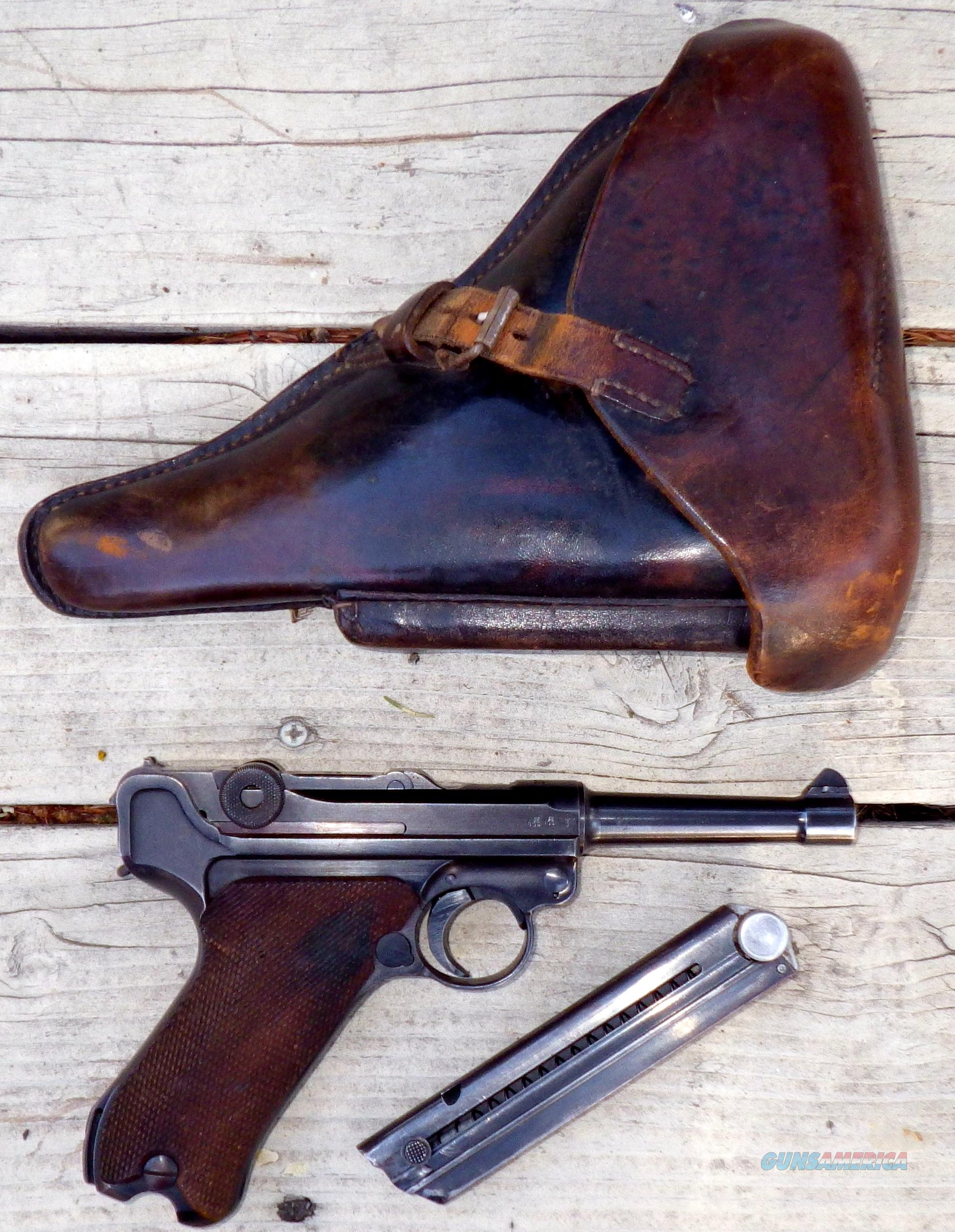 Luger 9mm with Nazi markings, holster, matching numbers  Guns > Pistols > Luger Pistols
