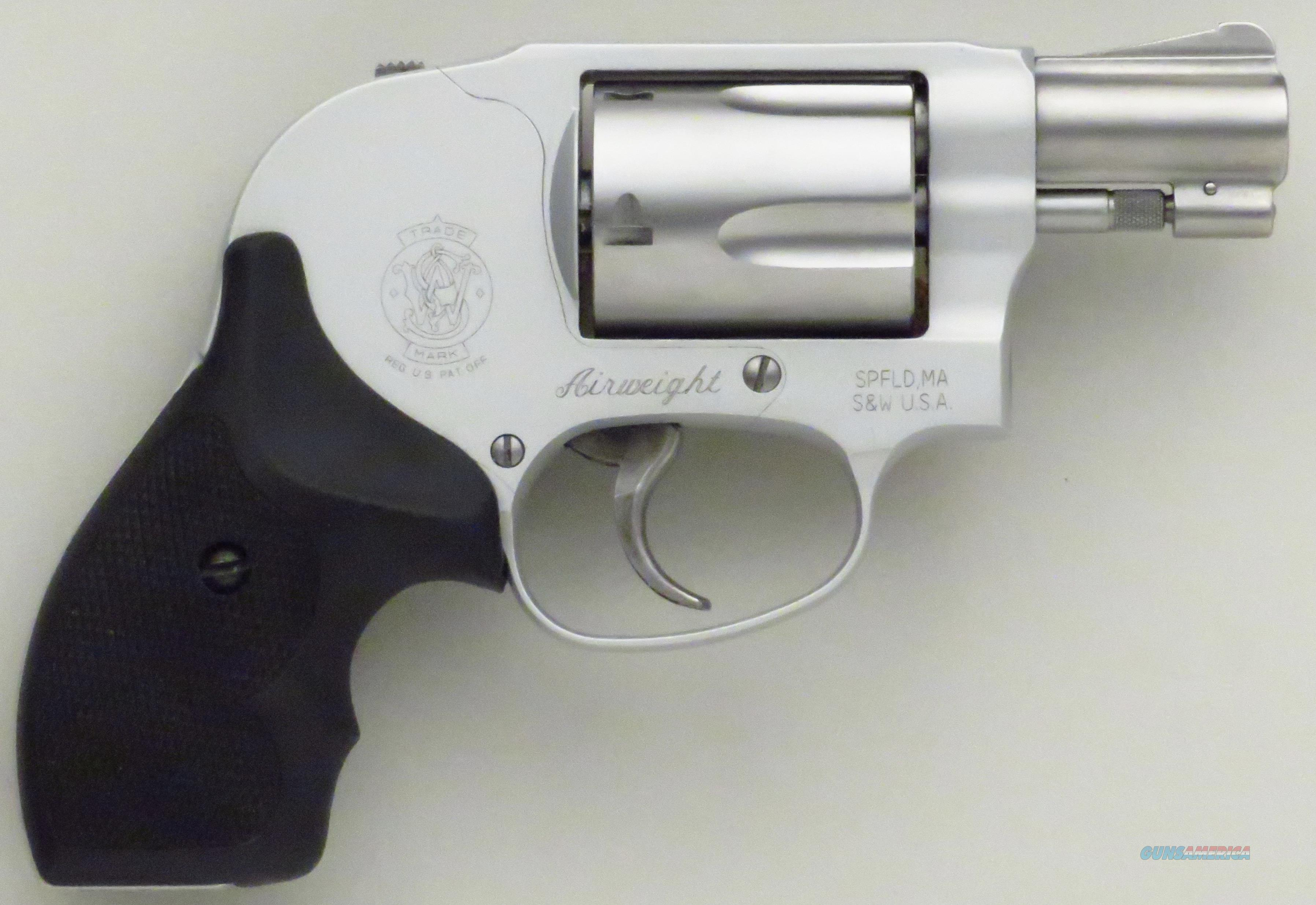 Smith & Wesson Airweight Model 638-3 .38 Special +P, 2008, stainless, like new, case, cartridge  Guns > Pistols > Smith & Wesson Revolvers > Pocket Pistols