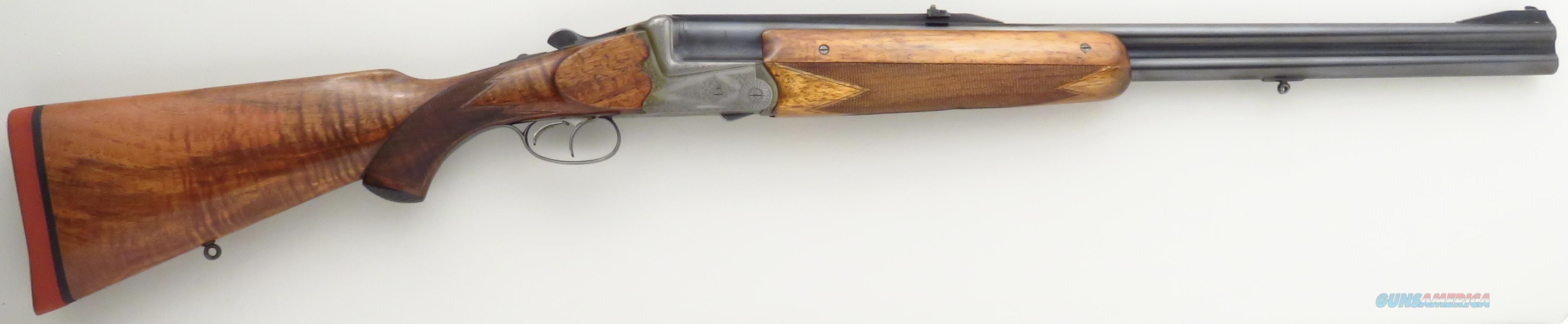 Merkel .458 Win. Magnum O/U double rifle, scalloped boxlock, engraved,  oak & leather case  Guns > Rifles > Double Rifles (Misc.)