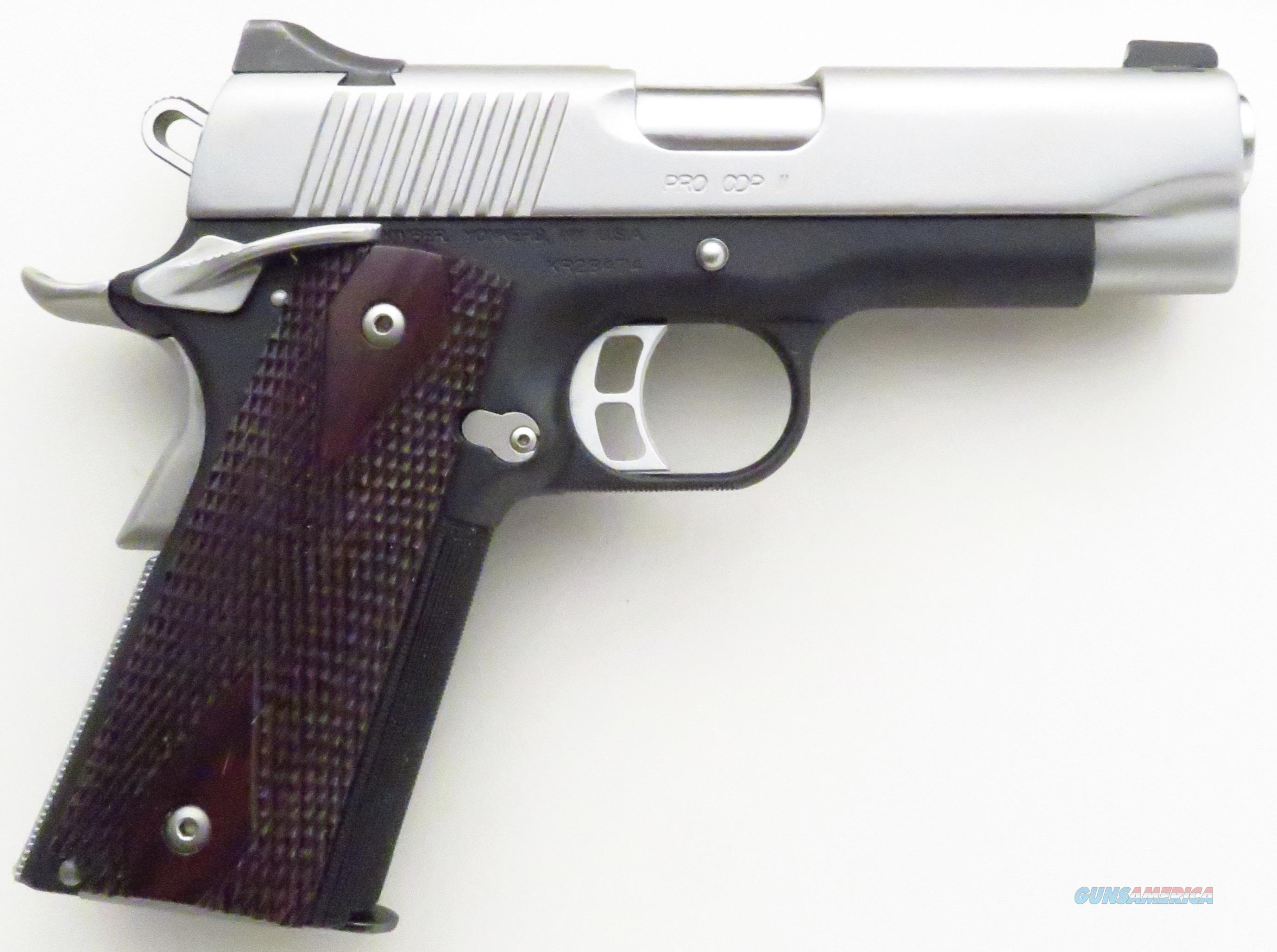 Kimber Pro CDP II .45 ACP, 4-inch, 28 ounces, night sights, ambi safety, stainless slide  Guns > Pistols > Kimber of America Pistols