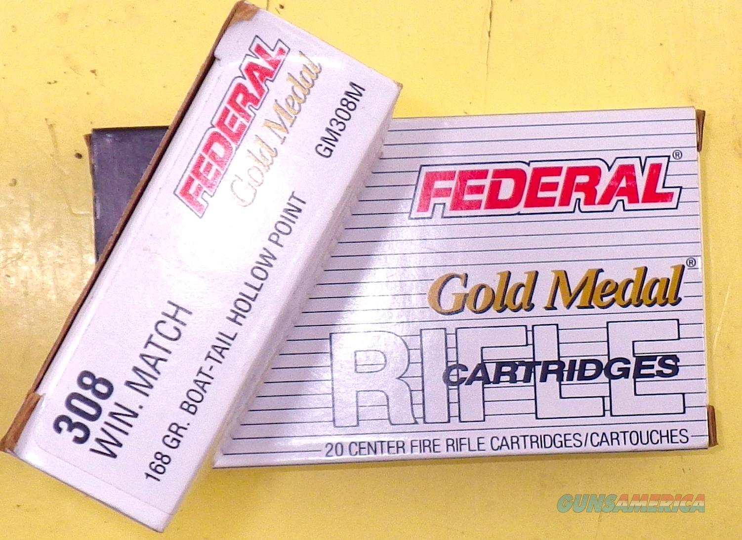 Federal .308 Gold Medal Match, 40 rounds  Non-Guns > Ammunition