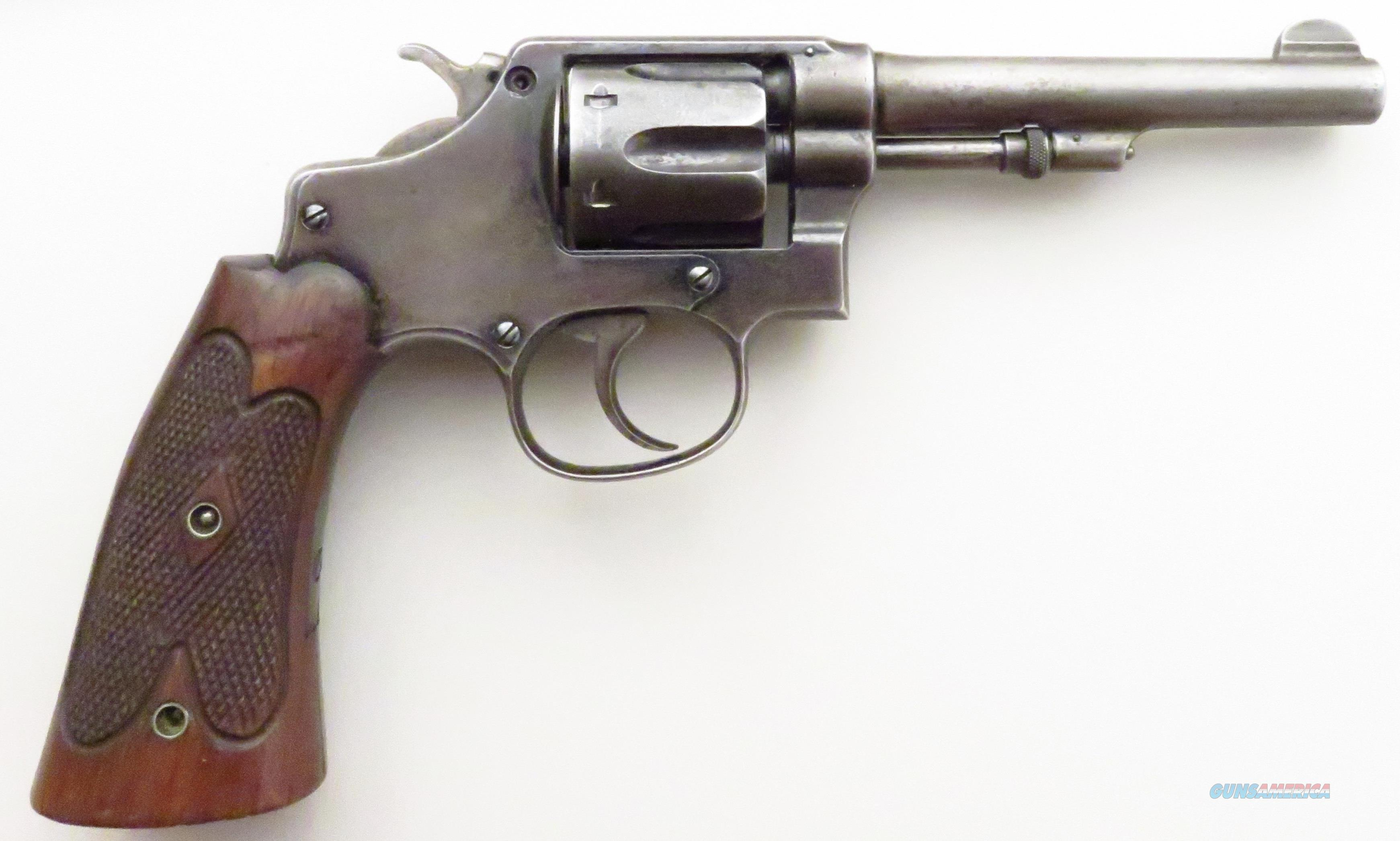 Smith & Wesson .32 Hand Ejector, 5th Change, Target Grips, 4-inch  Guns > Pistols > Smith & Wesson Revolvers > Pre-1945