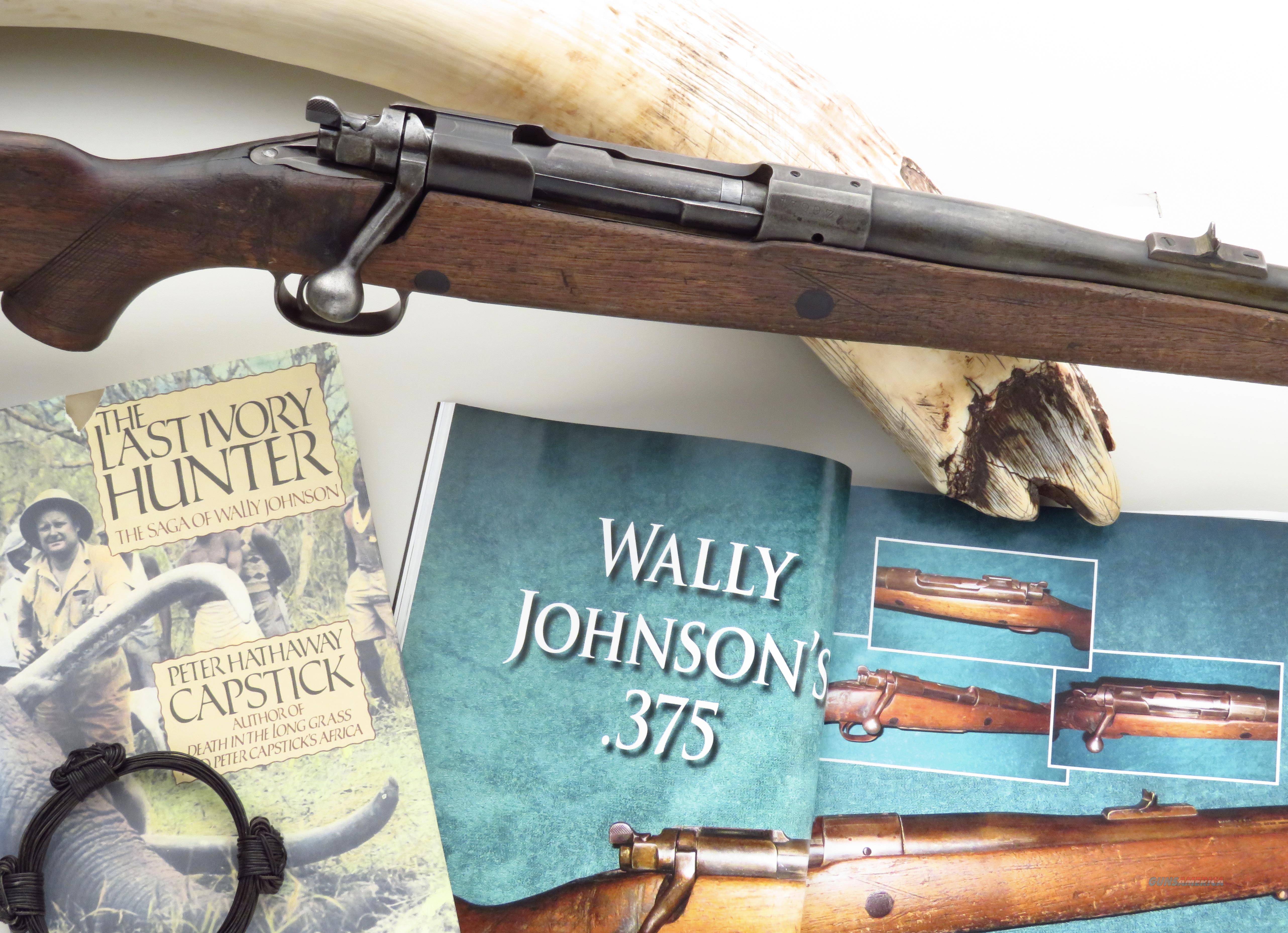 "Wally Johnson's (Capstick's ""Last Ivory Hunter"") Pre-war .375 H&H elephant rifle  Guns > Rifles > Winchester Rifles - Modern Bolt/Auto/Single > Model 70 > Pre-64"
