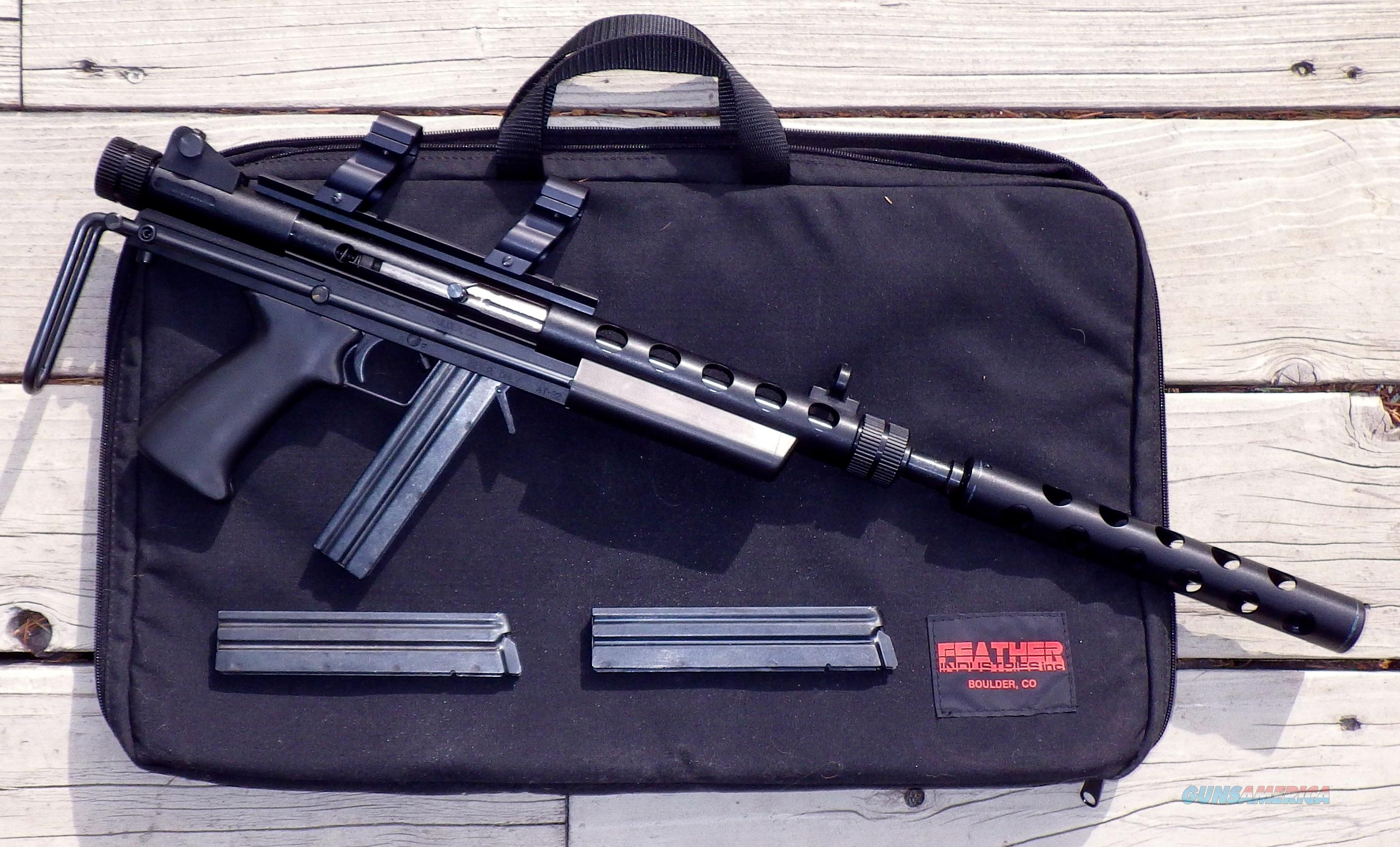 Feather Industries AT-22, telescoping, shroud, mounts, 3 mags, case  Guns > Rifles > Feather Industry Rifles