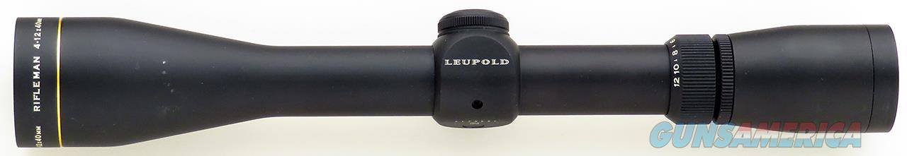 Leupold Rifleman 4-12x40, Wide Duplex reticle, matte, 99%  Non-Guns > Scopes/Mounts/Rings & Optics > Rifle Scopes > Variable Focal Length