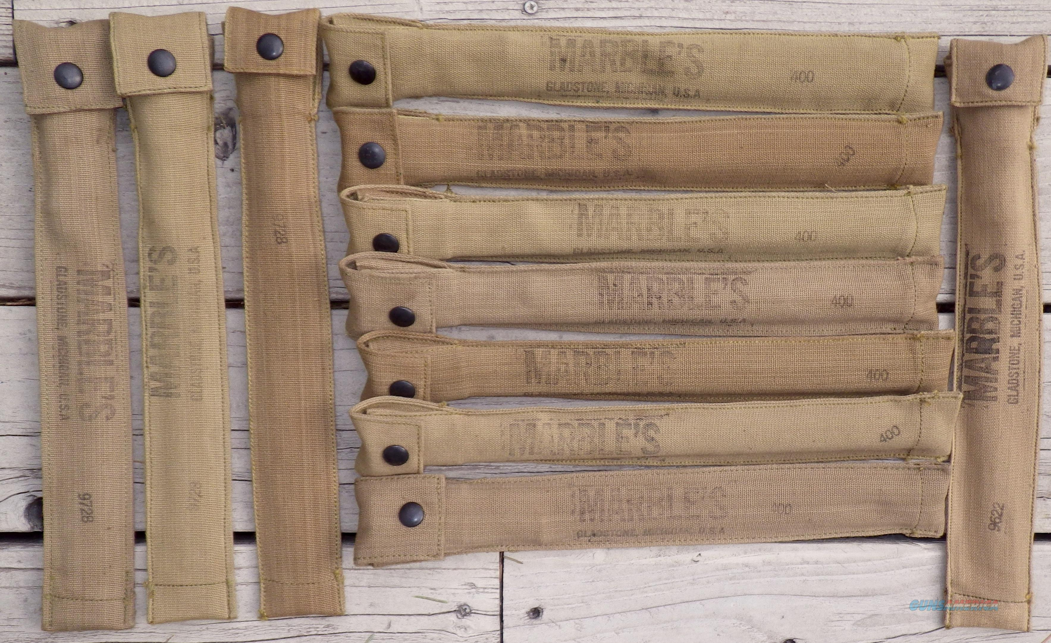 Lot of 11 Marble's 3-piece cleaning kits in canvas sheaths.  Non-Guns > Miscellaneous