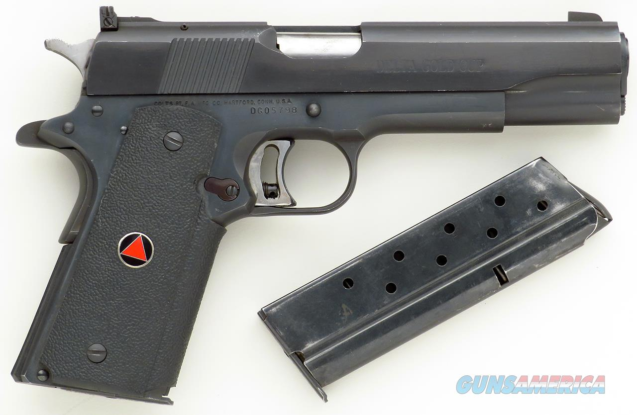 Colt Delta Gold Cup 10mm, made only in 1991, two mags, 90 percent  Guns > Pistols > Colt Automatic Pistols (1911 & Var)
