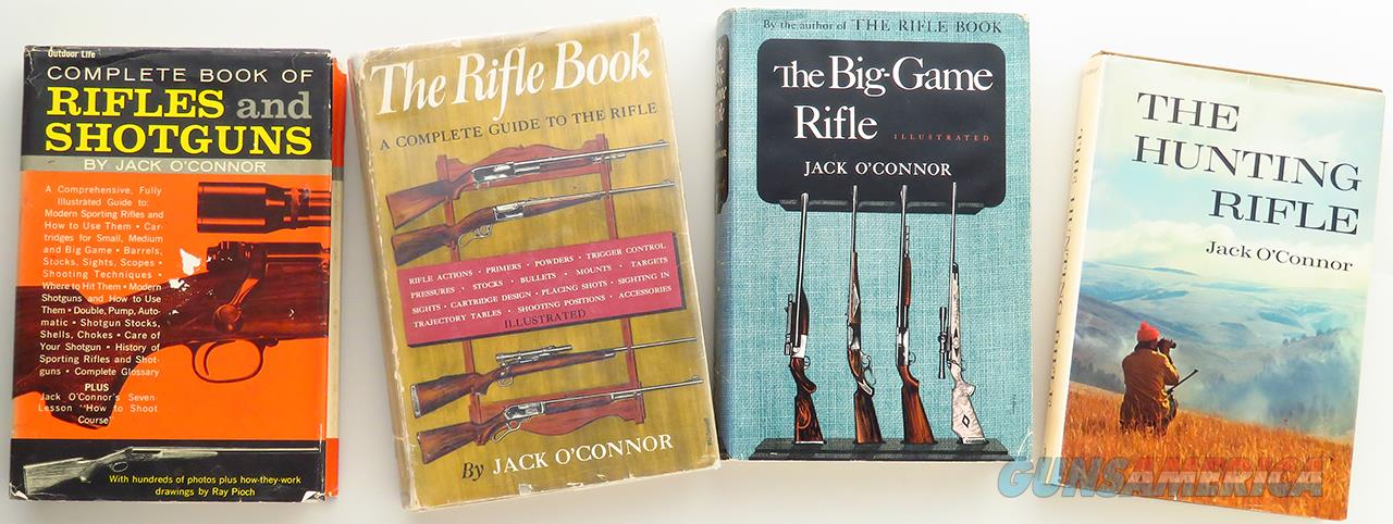 Jack O'Connor, four vintage rifle books, one inscribed  Non-Guns > Books & Magazines