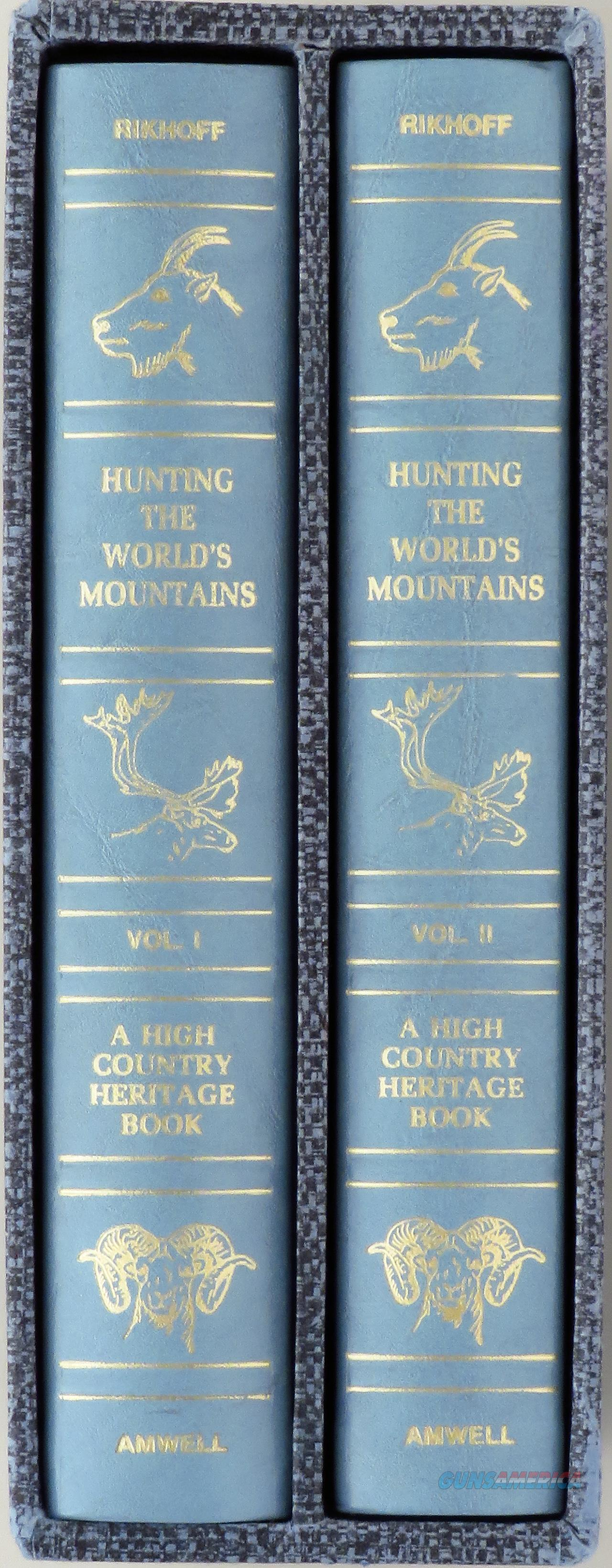 Hunting the Worlds Mountains, Amwell, two volumes, limited, leather, slip, ribbons, gilted  Non-Guns > Books & Magazines