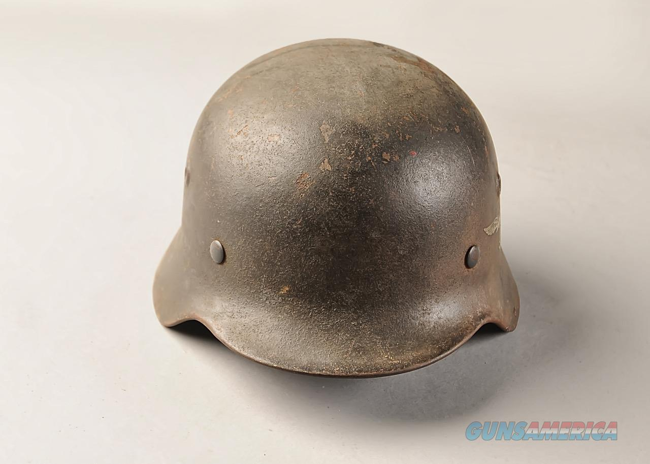 German WWII M40 Luftwaffe helmet, single decal, liner  Non-Guns > Military > Clothing/Camo