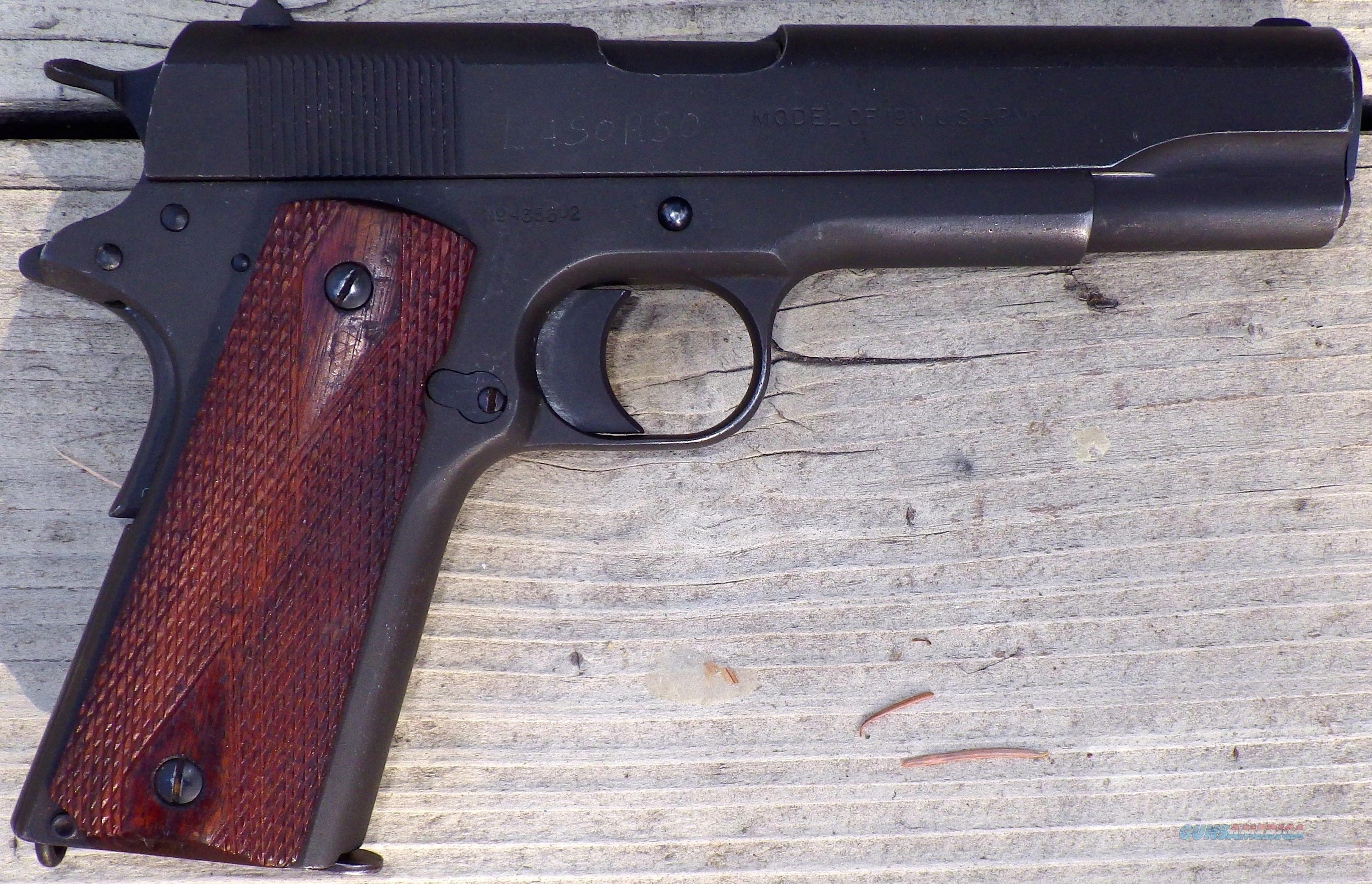 Colt 1911, US Property made in 1918, .45 ACP, holster  Guns > Pistols > Colt Automatic Pistols (1911 & Var)