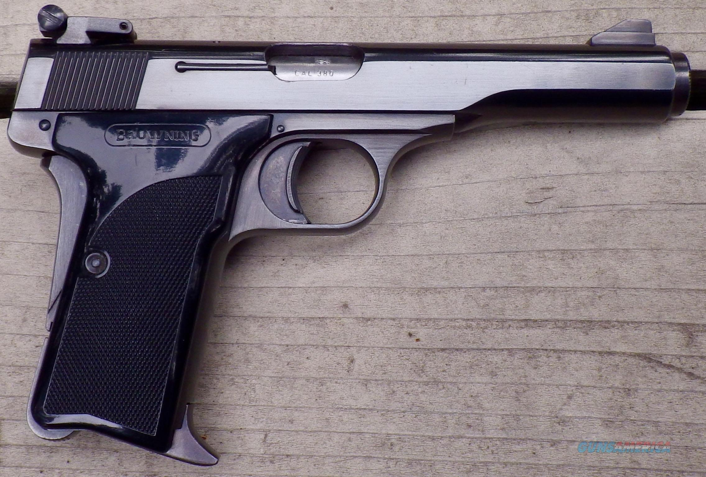 Browning Model 10/71 .380 ACP, adjustable sight, 98% condition  Guns > Pistols > Browning Pistols > Other Autos