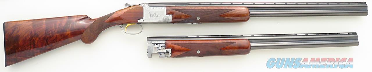 Browning Superposed Pigeon Grade 12 gauge, RKLT, two barrel sets, 1964, cased, spectacular wood, 99%  Guns > Shotguns > Browning Shotguns > Over Unders > Belgian Manufacture