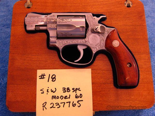 Factory Class A engraved Model 60 2-inch  Guns > Pistols > Smith & Wesson Revolvers > Full Frame Revolver