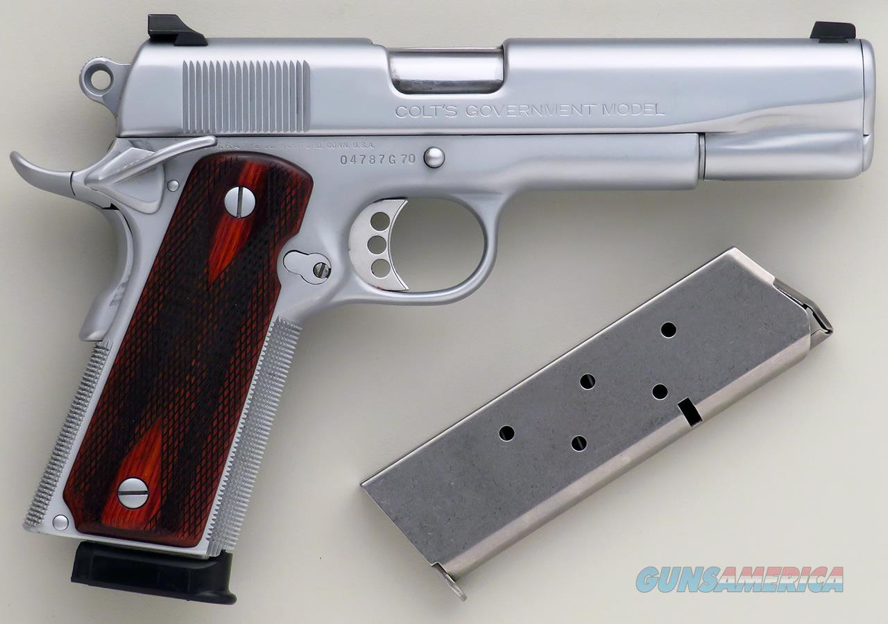 Clark custom 1911 .45 ACP, Colt Series 70, Meltdown, hard chrome, checkered, ambi, thin grips, layaway  Guns > Pistols > Custom Pistols > 1911 Family