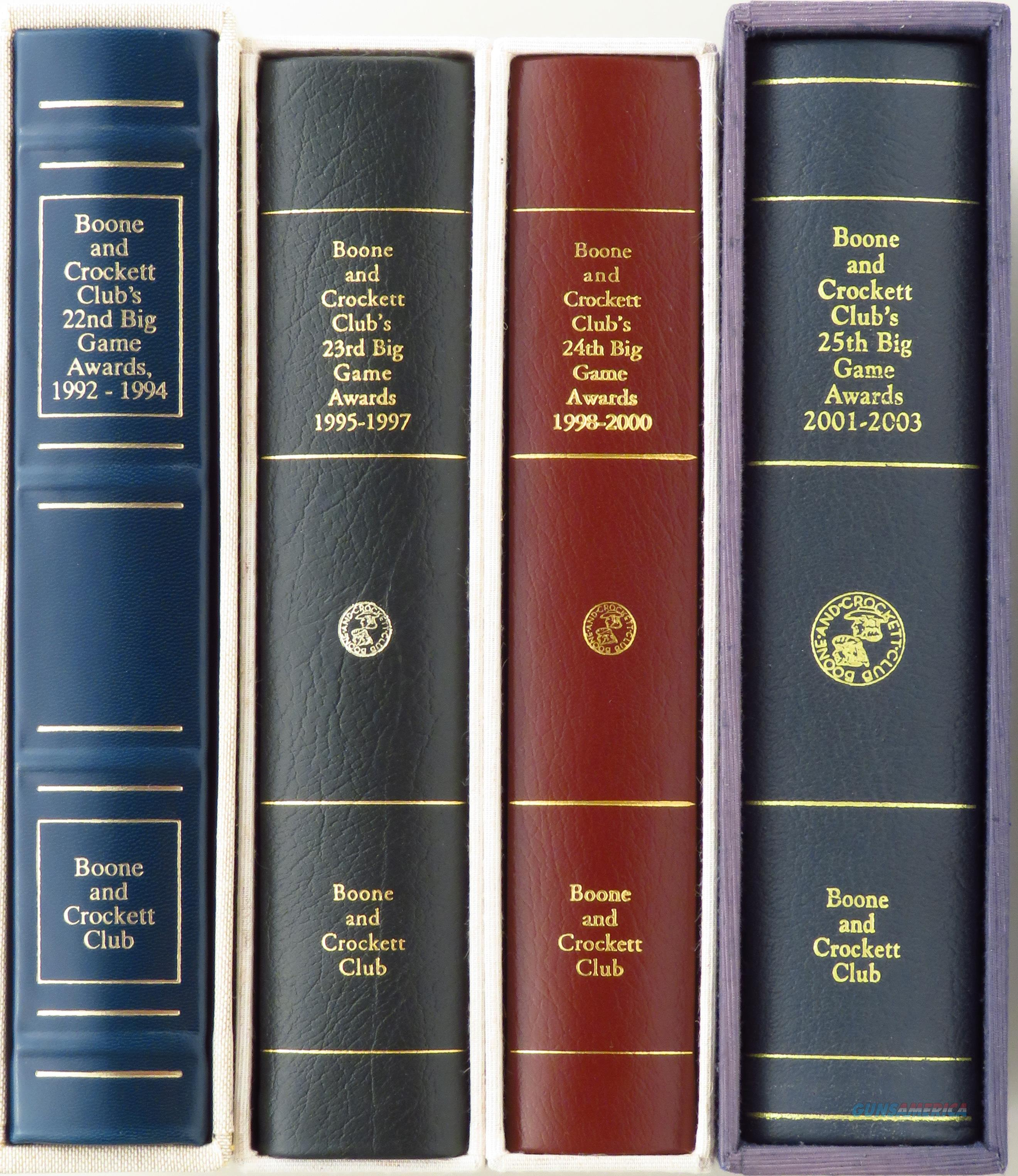 Boone and Crockett Club 22nd, 23rd, 24th & 25th Big Game Awards Limited Edition books, leather, linen slip, new  Non-Guns > Books & Magazines
