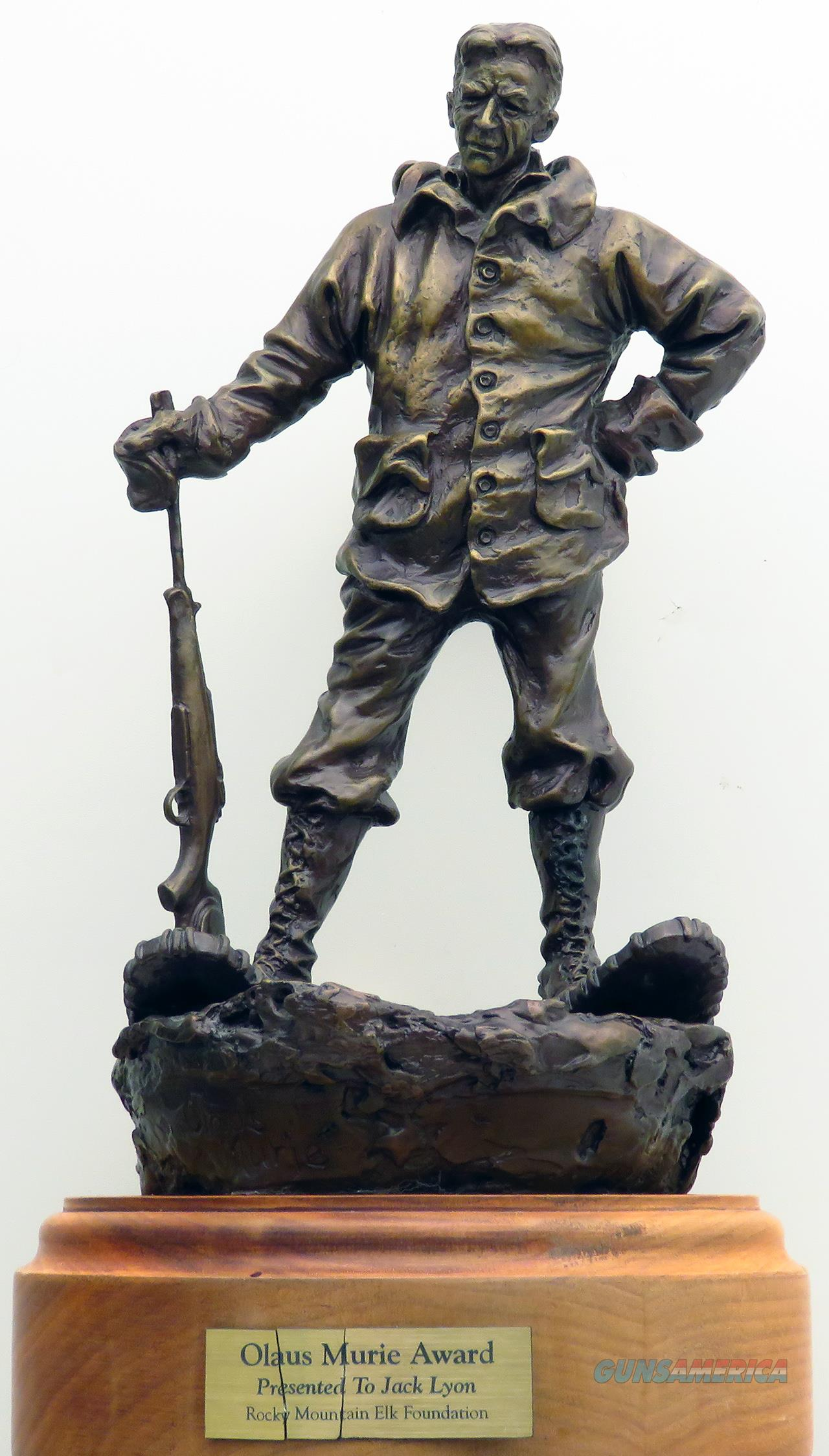 Olaus Murie bronze by Jack Logozzo, number 3, RMEF, snowshoes  Non-Guns > Artwork