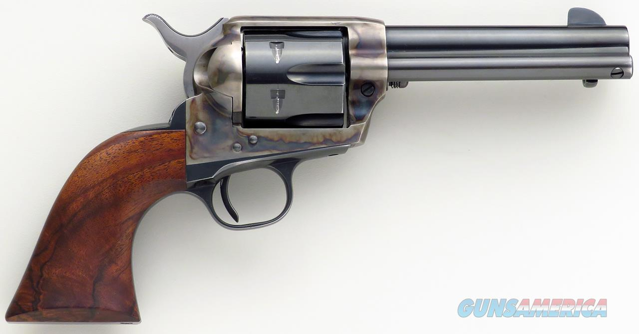 Colt SAA .45 Colt, early second generation 4.75-inch, 19597SA, mirror bore, Hoenig grips and tune, estate of Tom Siatos  Guns > Pistols > Custom Pistols > Other