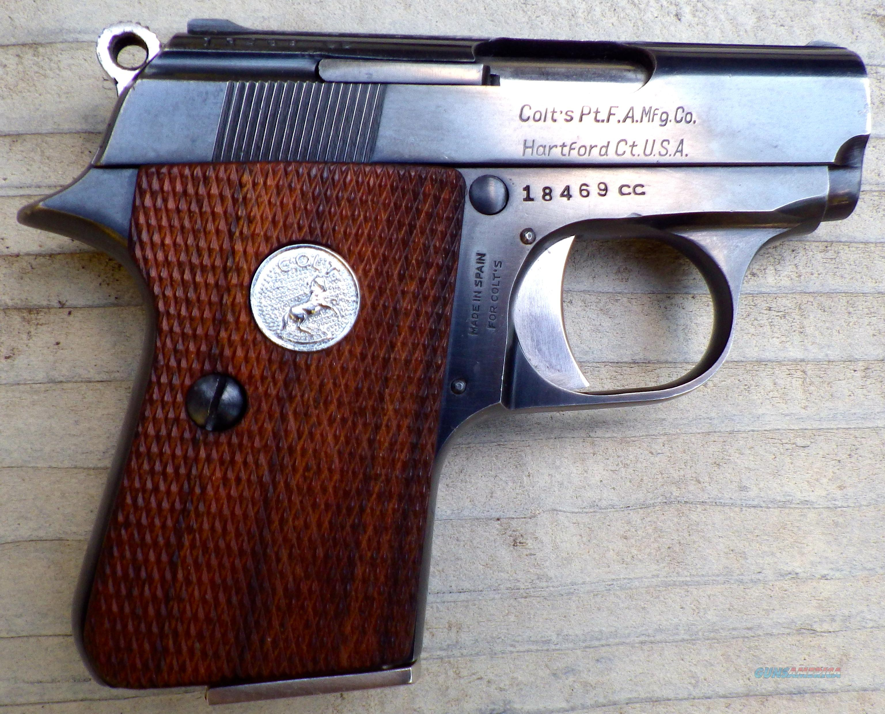 "Junior Colt ""Pocket"" .22 Short, Spain, 85%  Guns > Pistols > Colt Automatic Pistols (22 Cal.)"