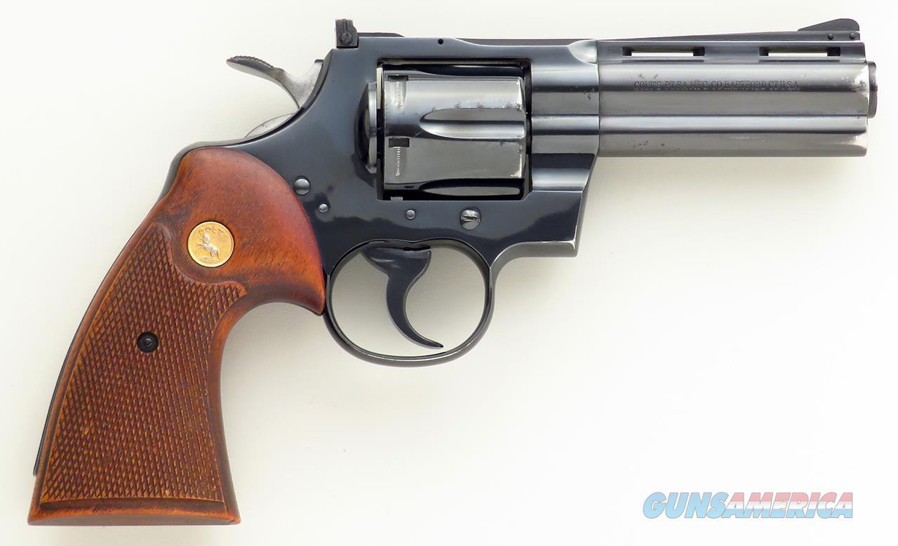 Colt Python .357 Magnum, 4-inch, 1962, 90%, layaway  Guns > Pistols > Colt Double Action Revolvers- Modern