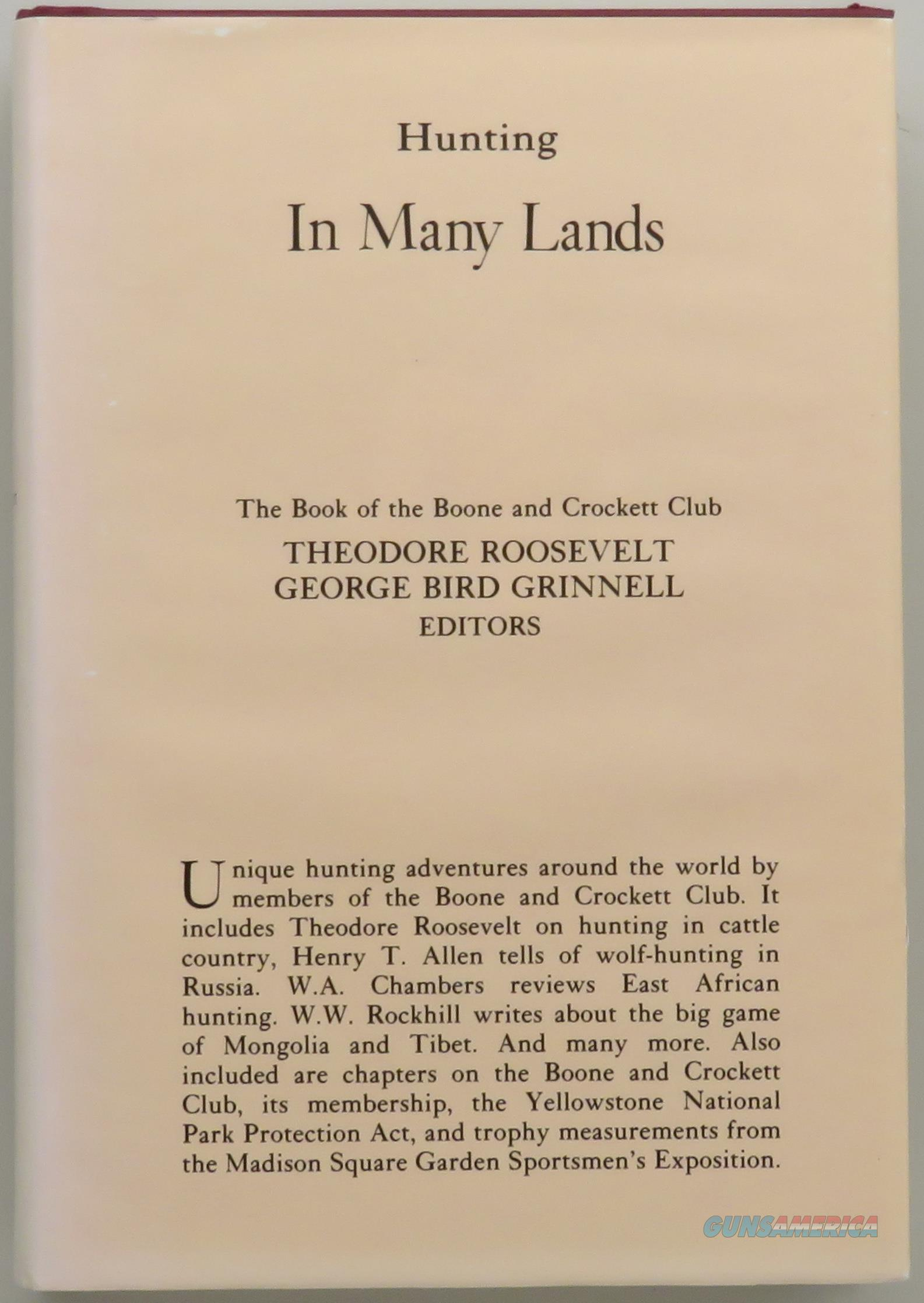 Hunting In Many Lands, Roosevelt & Grinnell, Boone & Crockett Club, Acorn Series reprint  Non-Guns > Books & Magazines