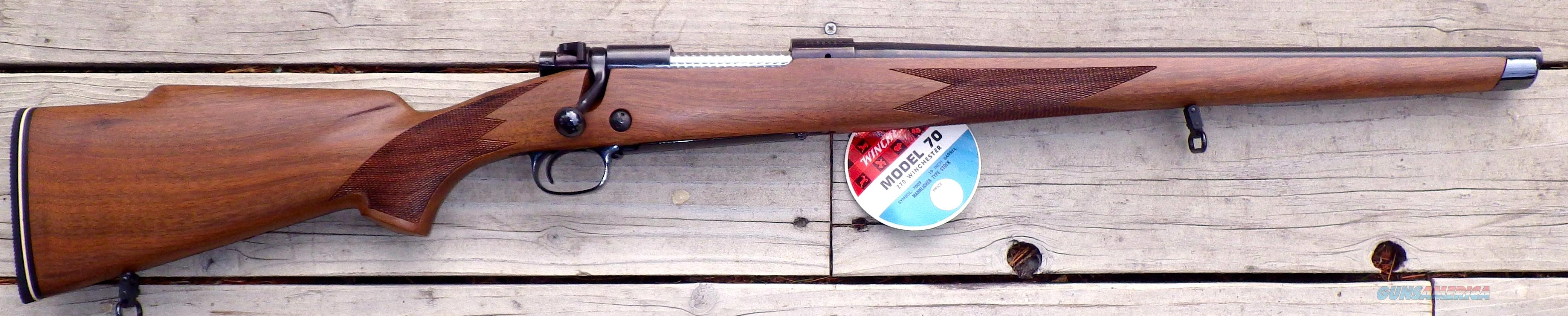 Winchester 70 .270 Männlicher circa 1970, unfired, 19-inch barrel  Guns > Rifles > Winchester Rifles - Modern Bolt/Auto/Single > Model 70 > Post-64