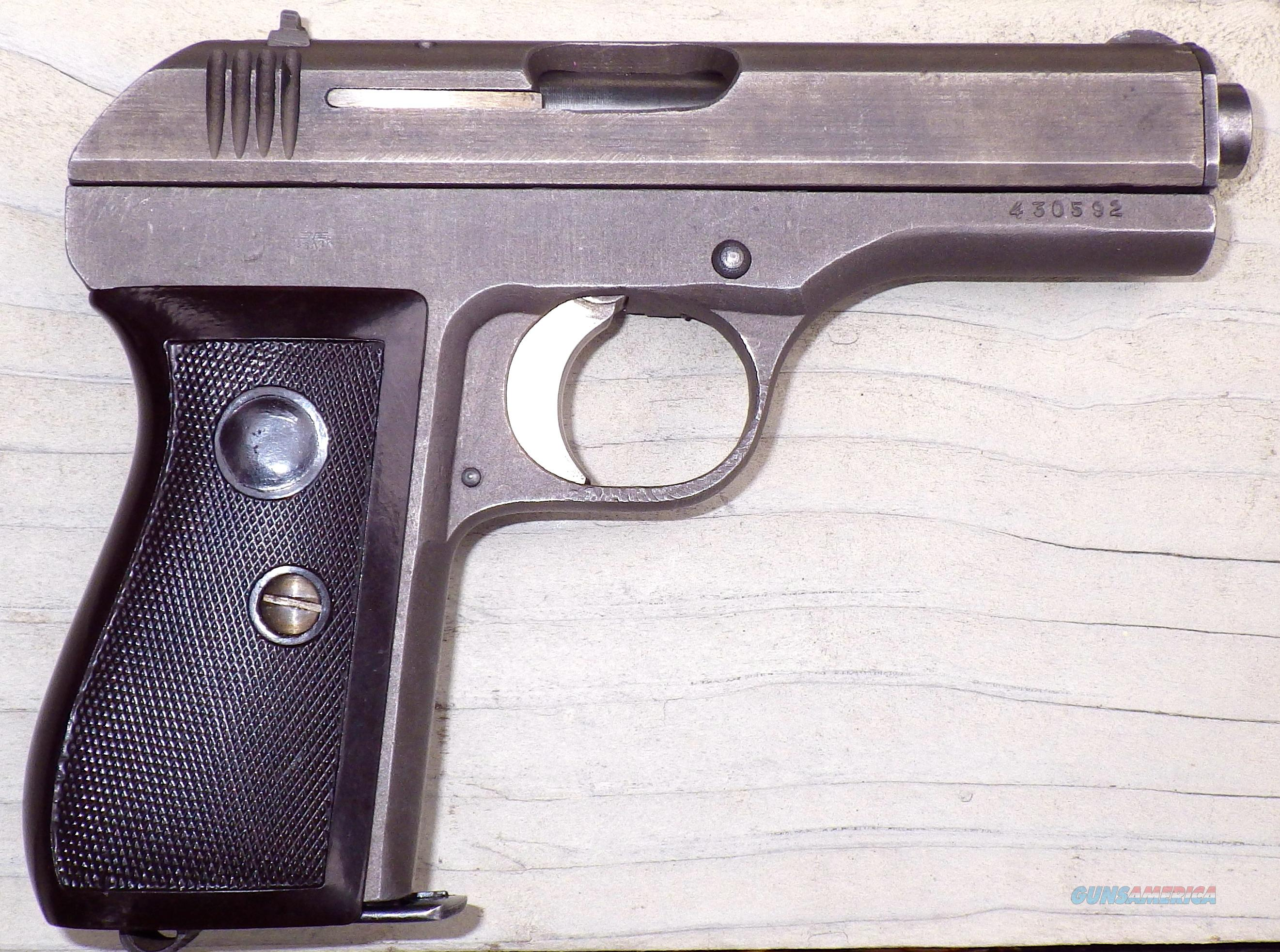 FNH Model 27 7.65mm, Phosphate finish, matching numbers, strong bore  Guns > Pistols > FNH - Fabrique Nationale (FN) Pistols > Pre-War