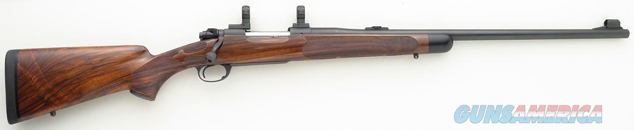 Biesen Winchester pre-64 Model 70 custom .375 H&H crafted for the Jack O'Connor Center, engraved, 5+1, spectacular wood, unfired  Guns > Rifles > Winchester Rifles - Modern Bolt/Auto/Single > Model 70 > Pre-64
