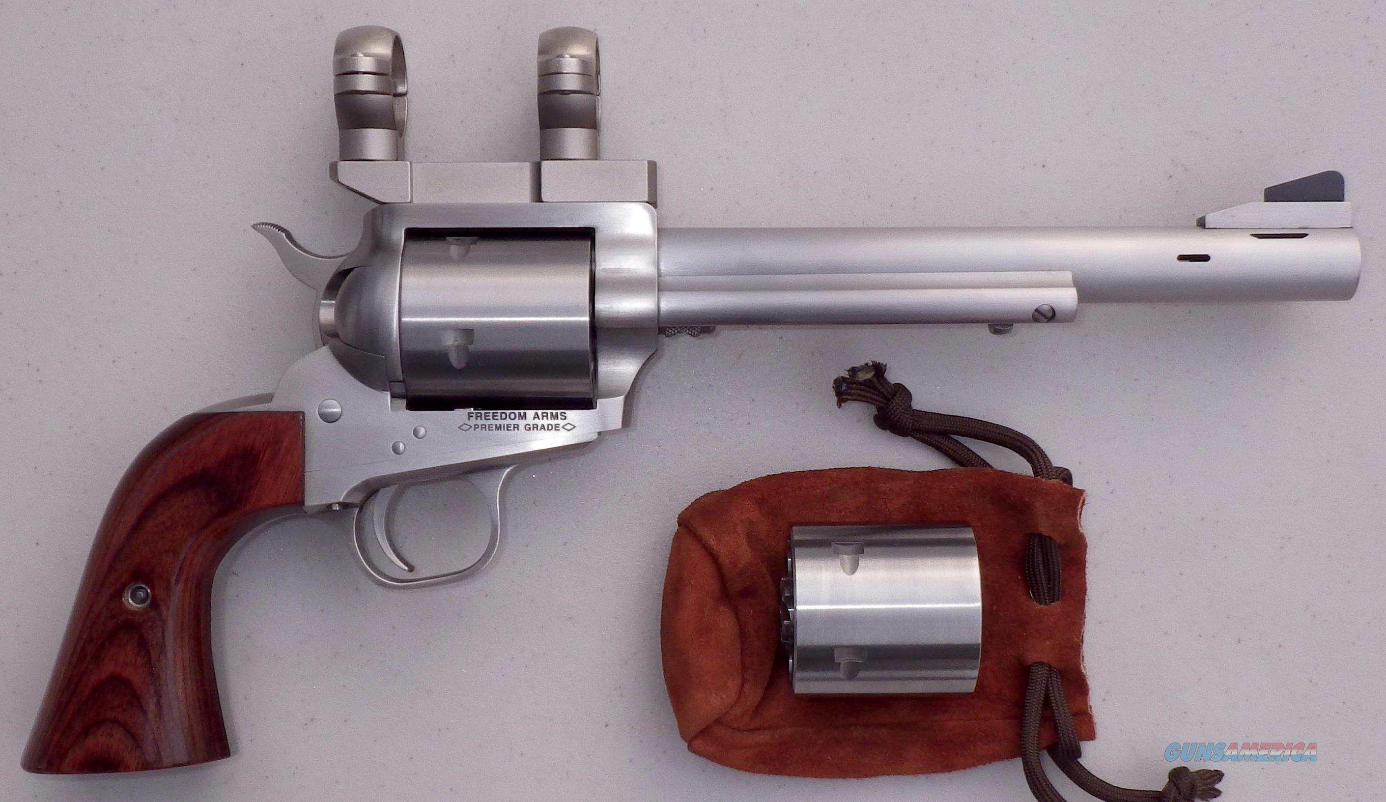 Freedom Arms Model 83 .454 Casull, extra .45 LC cylinder, 7.5, ported, unfired  Guns > Pistols > Freedom Arms Pistols